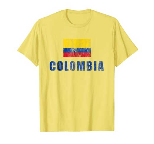 d2381247ccd16 Amazon.com: Colombia T-Shirt Gift Columbian Soccer Jersey: Clothing