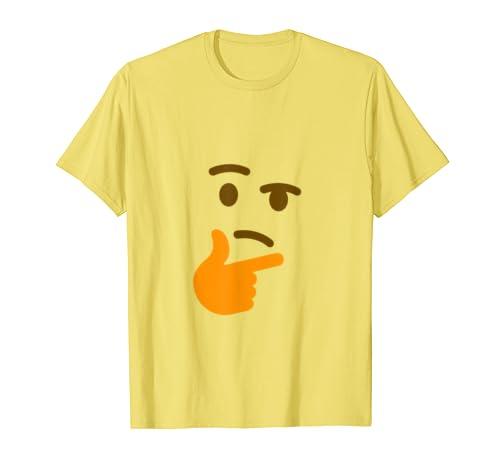 a7deb03fc00eba Amazon.com  Thinking Face Emoji Face T-Shirt No Background  Clothing