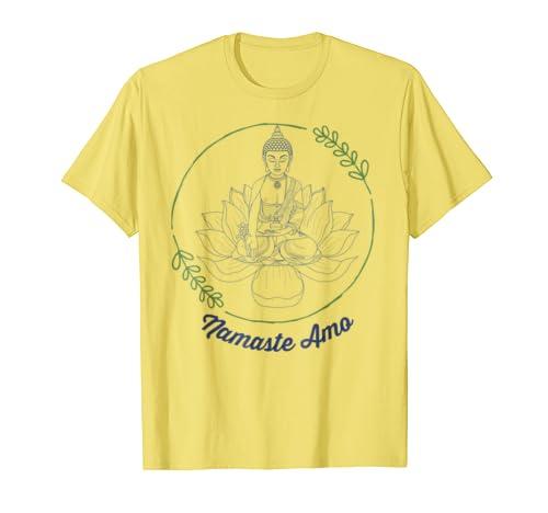 Amazon.com: Namaste Amo Tee - Camisetas Latinas, Regalos Para Mujer: Clothing