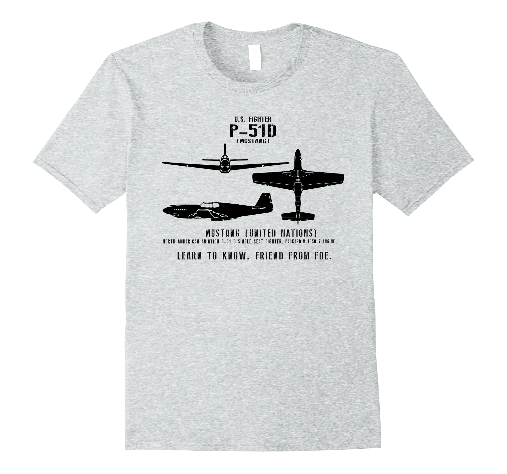 Spotter Aircraft Wwii 51 D T Rt Fighter Series Mustang Shirt P 9WD2EHI