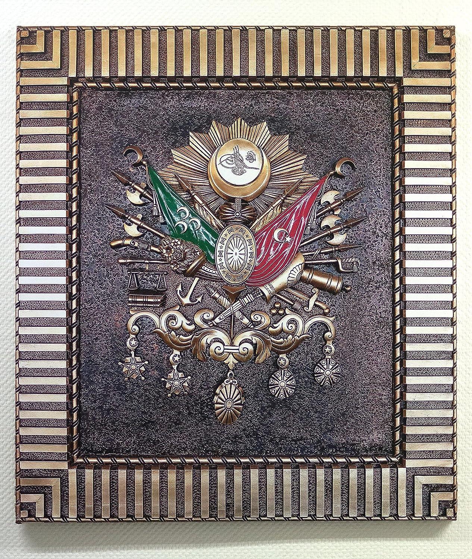 Leinwandbild OSMANLI ARMASI Tugra Wappen Wappen Wappen Osmanisches Reich Tablo Bild Digital Druck (B80cm x H90cm) B01MTGC0WD f53337