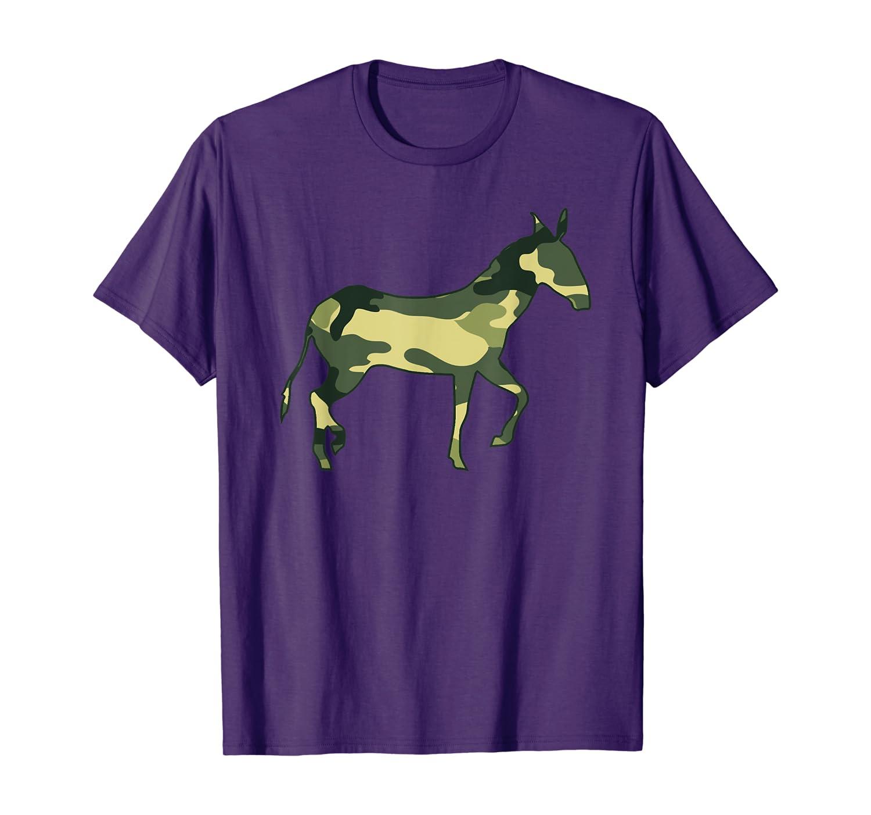 Military Donkey Camo Men Print US Jackass Mule Veteran Gift T-Shirt