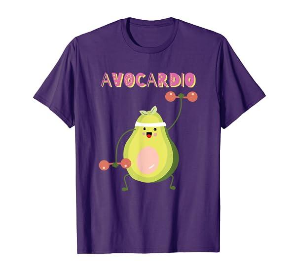 AvoCardio Funny Avocado Fitness Workout Avo-Cardio Exercise T-Shirt