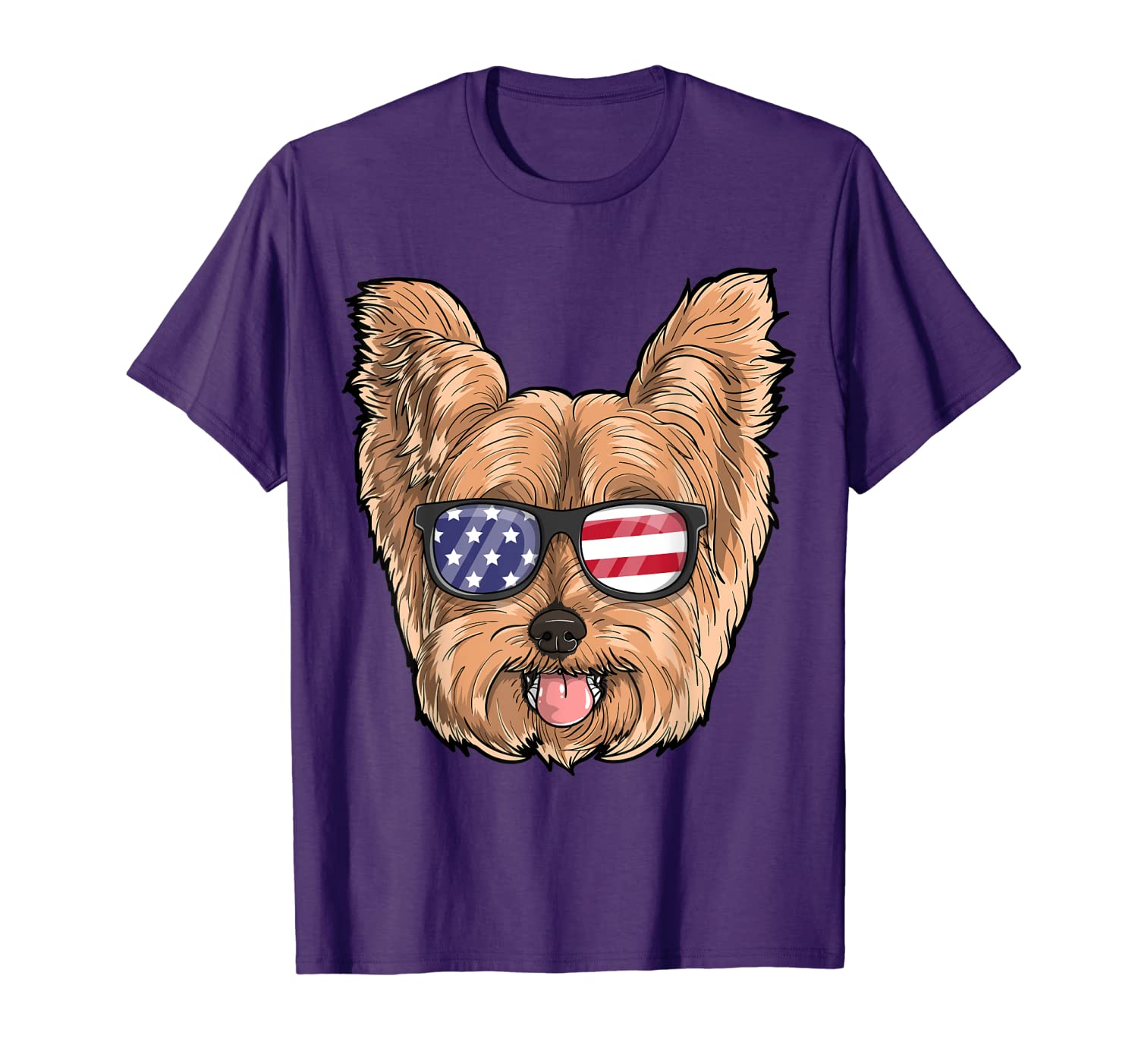 Yorkie Dog Patriotic USA 4th of July American Cute Gift T-Shirt-ANZ
