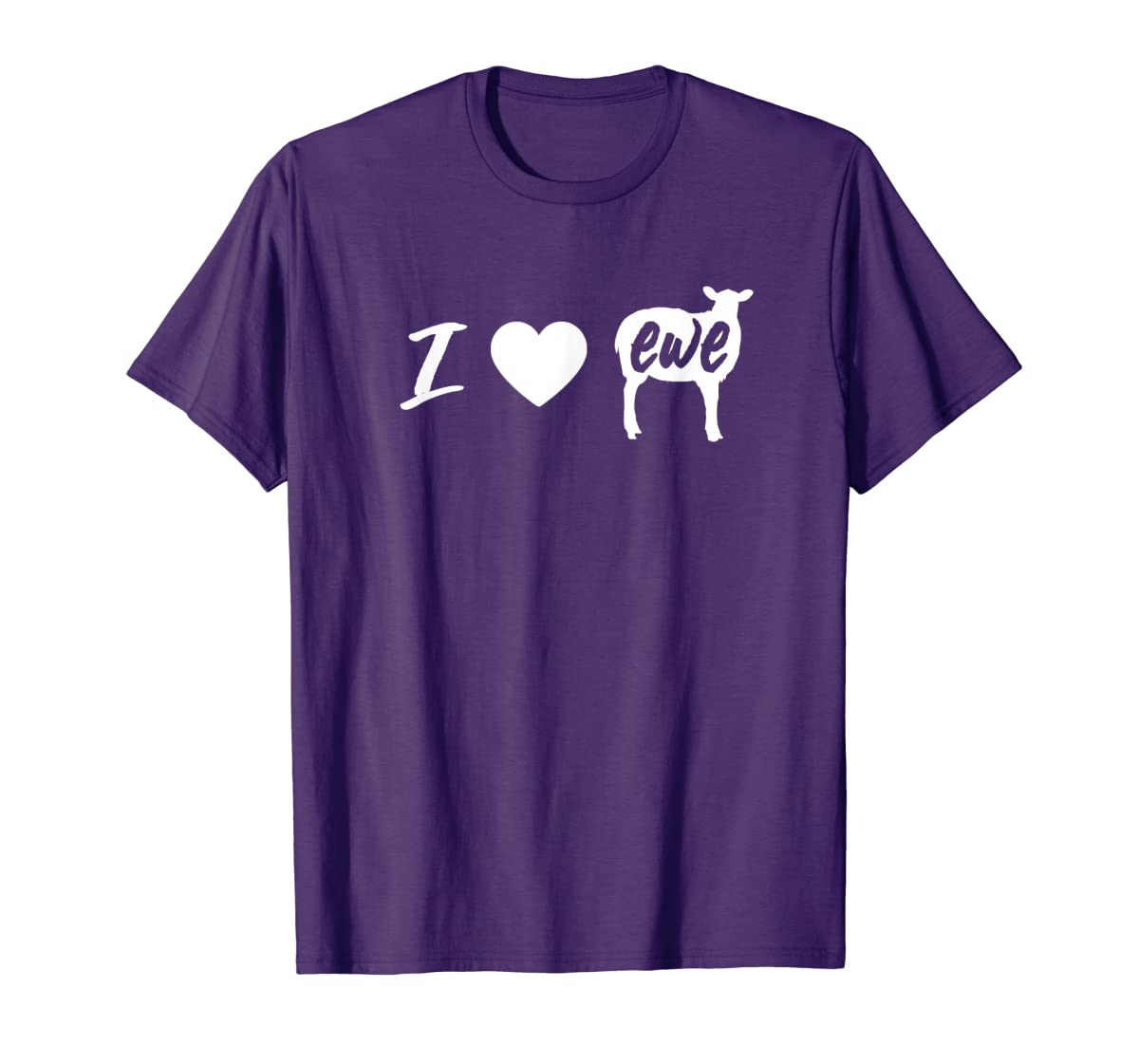 I Love Ewe - I Love You Sheep Pun Shirt-Men's T-Shirt-Purple