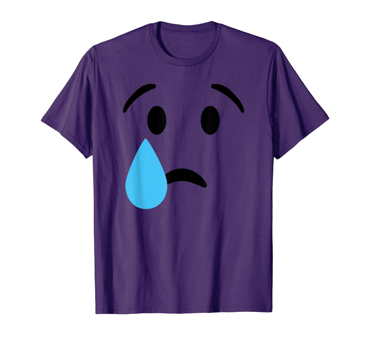 Sad Crying Tear Eyes Face Emojis Emoticon Halloween Costume T-Shirt-Men's T-Shirt-Purple