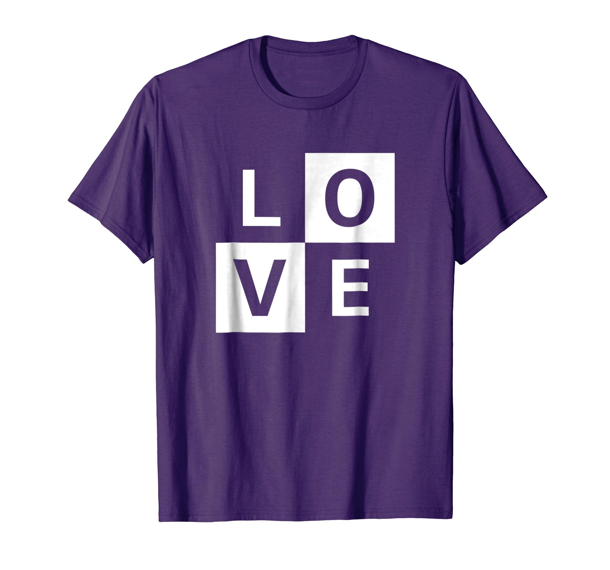 Love T-shirt Simple Design for Men and Women- TPT