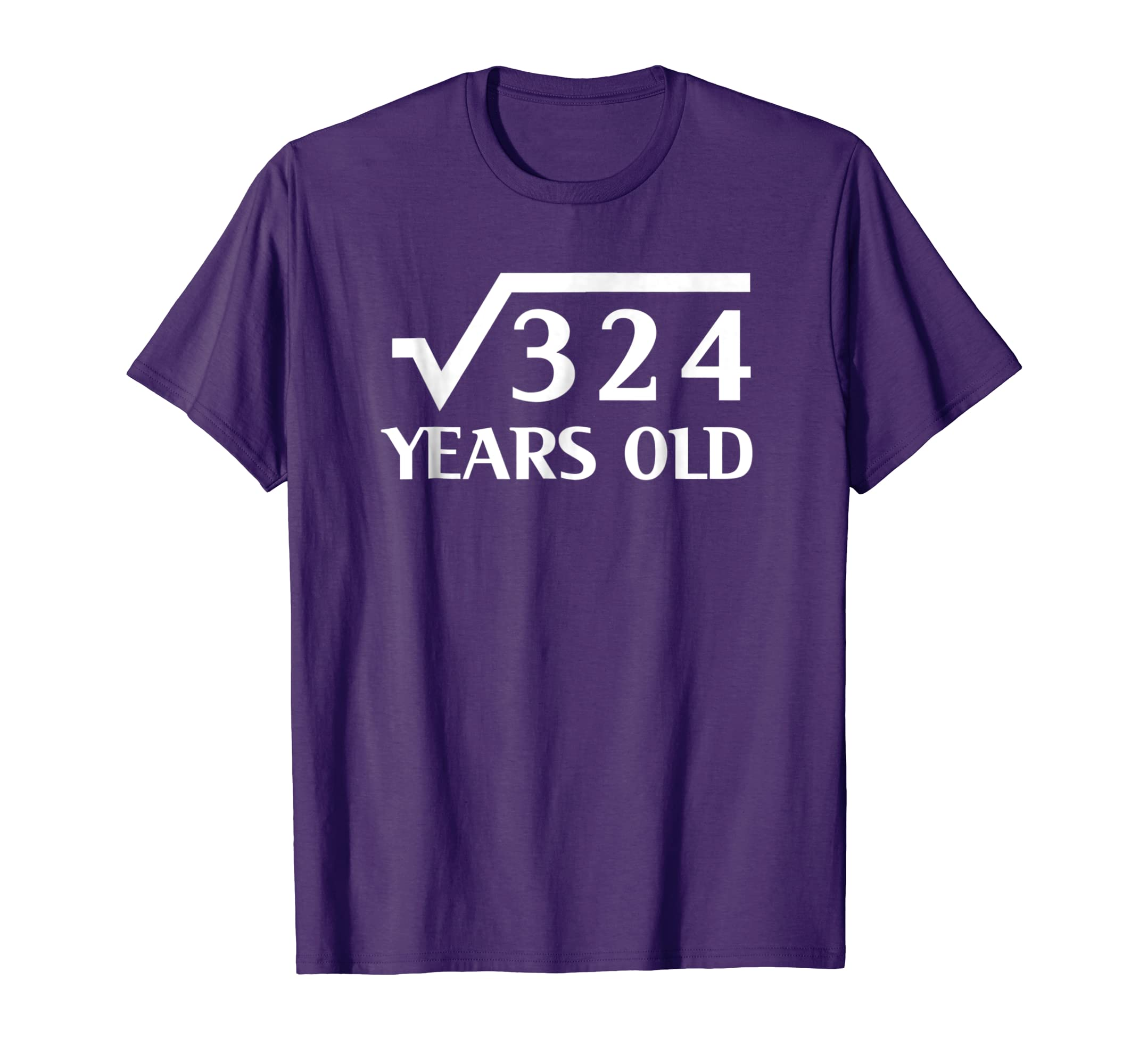 18th Happy Birthday Shirt 18 Years Old Square Root of 324-ln