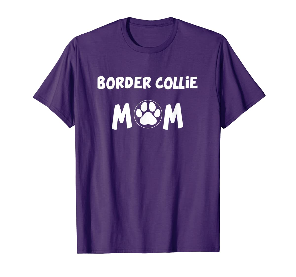 Perfect Dog Mother Gift | Border Collie Mom T-Shirt-Men's T-Shirt-Purple