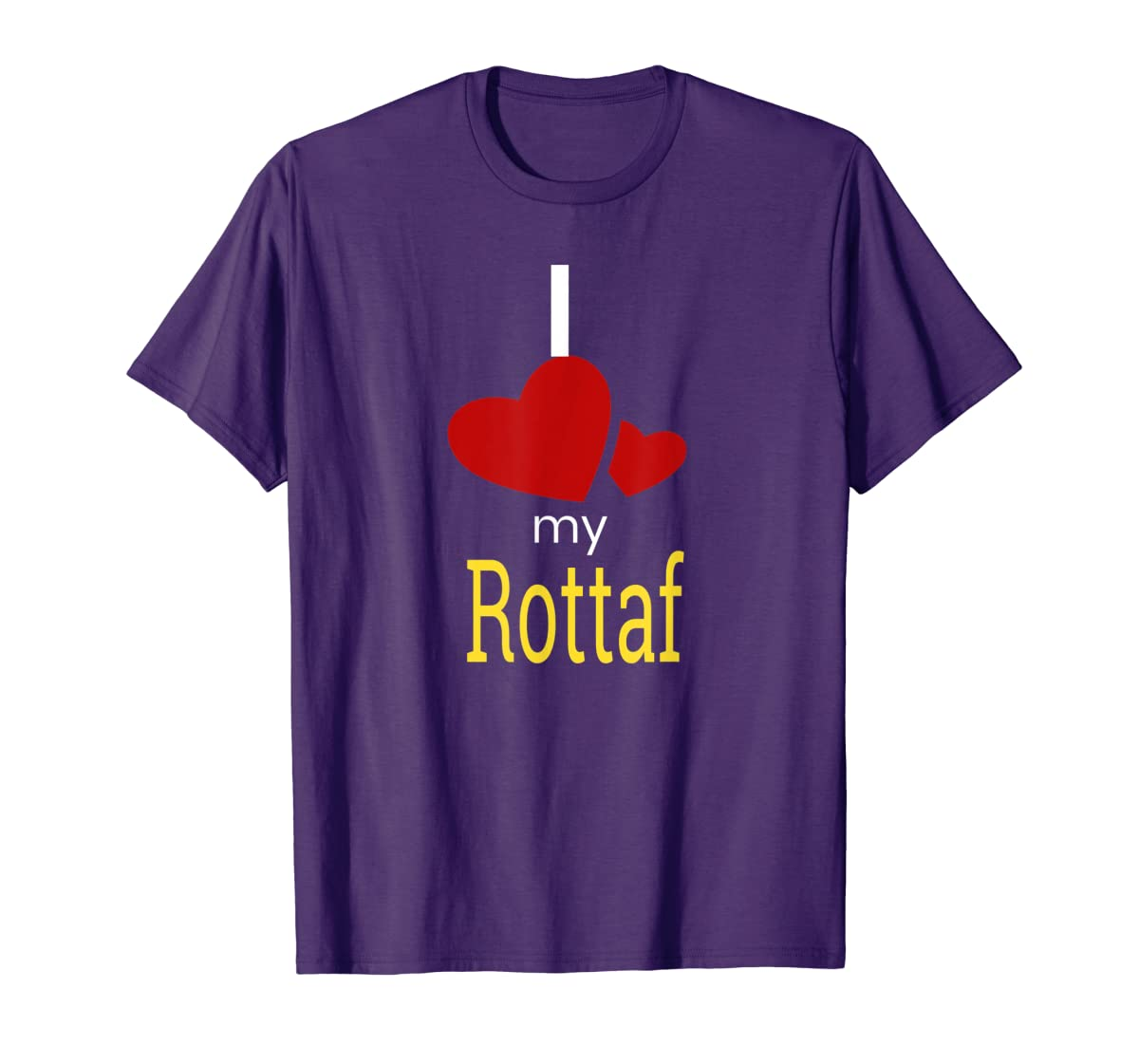Rottaf Dog Shirt Love Rottweiler + Afghan Hound =  T-Shirt-Men's T-Shirt-Purple