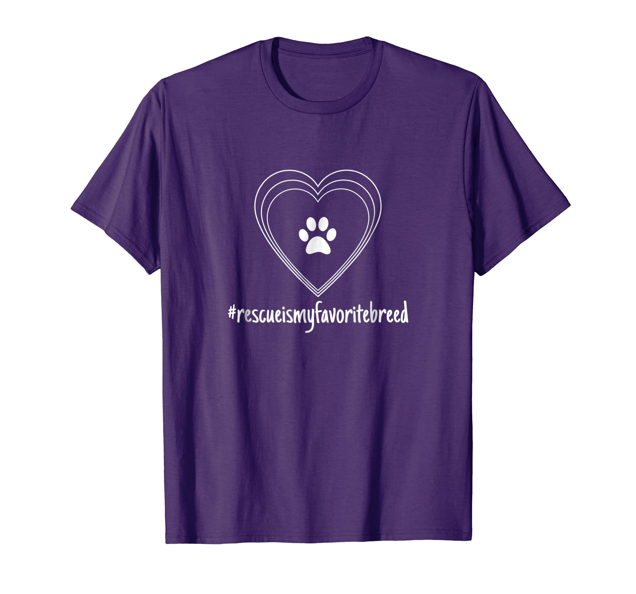 #rescueismyfavoritebreed Cute Animal Rescue Graphic T-Shirt-AZP