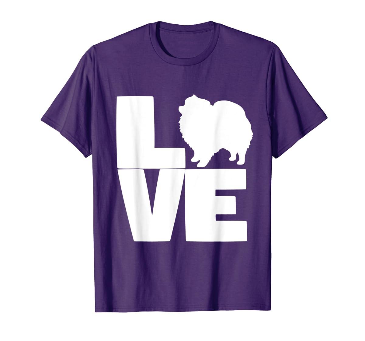 I Love Pomeranians Pom Mom or Dad Pet Lover T Shirt-Men's T-Shirt-Purple