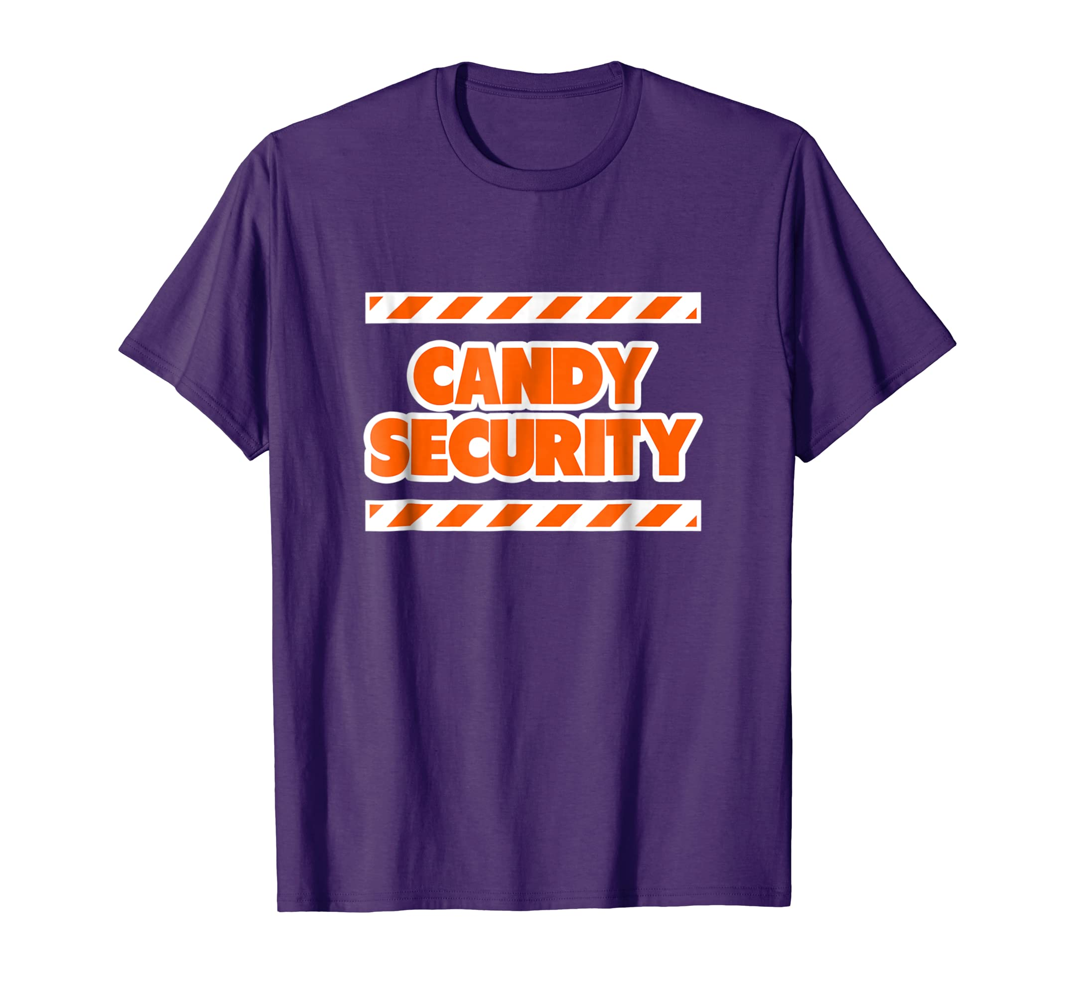 Funny Candy Security Halloween Shirts for Mom Dad, Orange-azvn