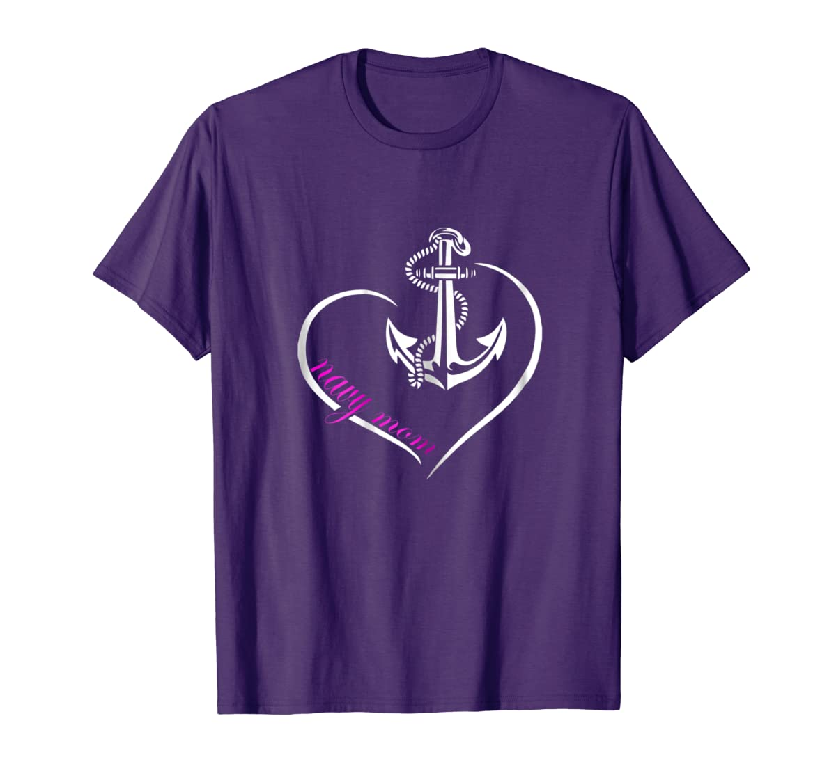 Womens U.S. NAVY SHIRT ORIGINAL PROUD NAVY MOM T-TSHIRT-Men's T-Shirt-Purple