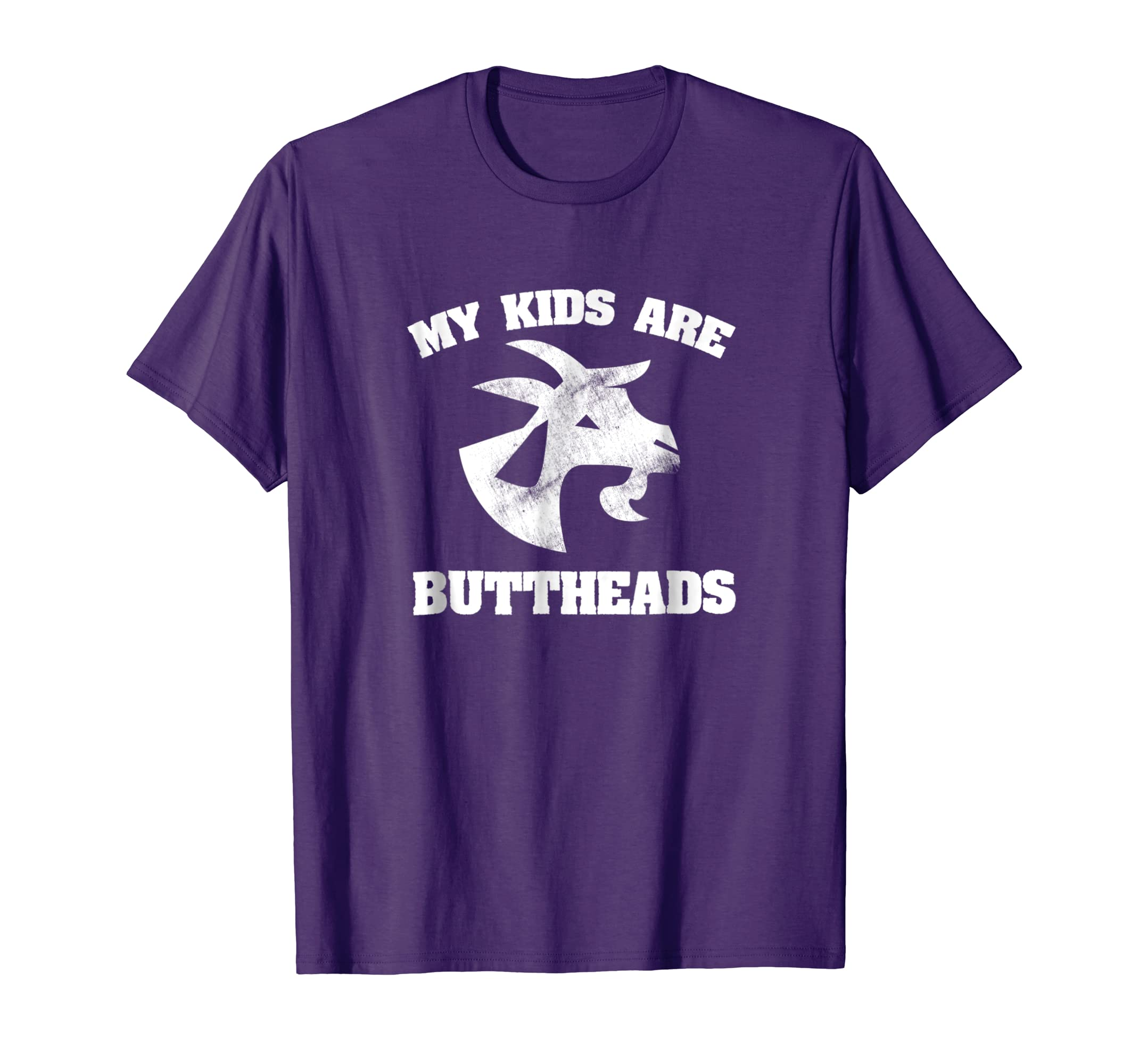 5c287f0c Amazon.com: Goat Owner Gift - My Kids are Buttheads Shirt: Clothing