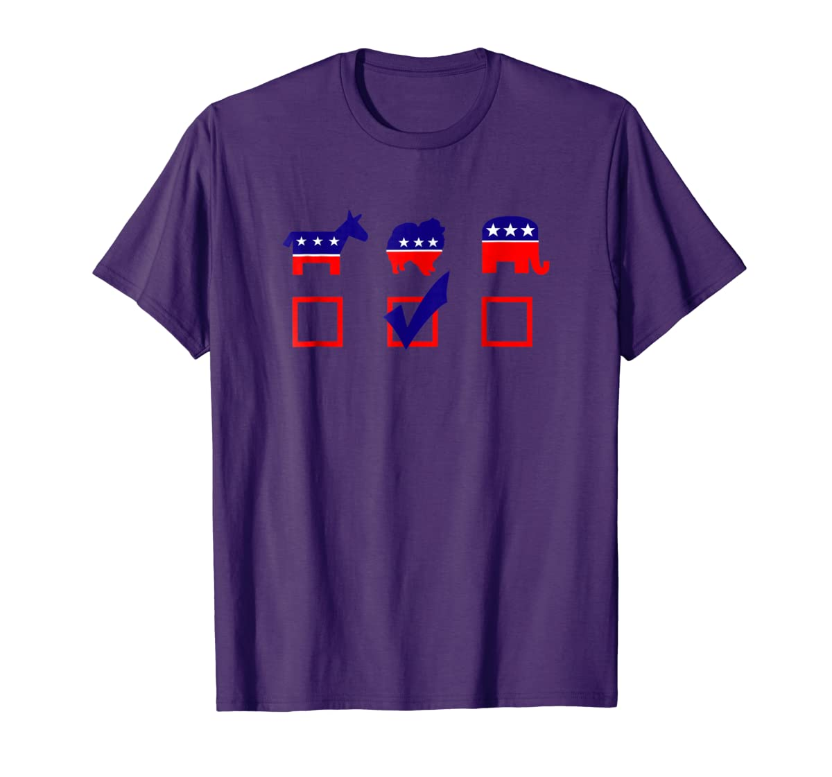 Vote Pomeranian For President T-shirt Cool Dog Lover Shirt-Men's T-Shirt-Purple