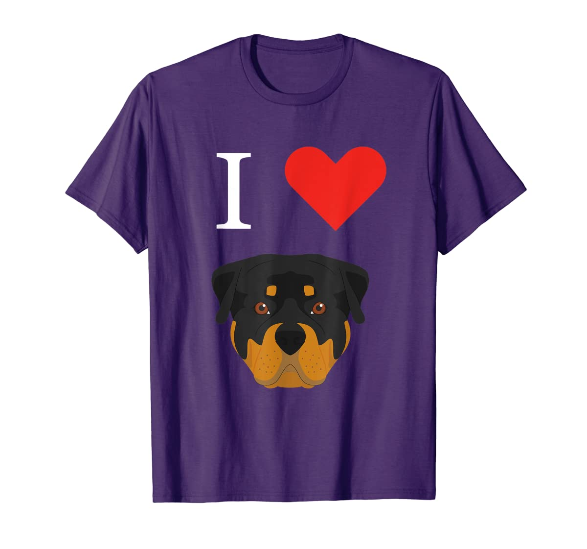 I Love My Rottweiler Dog T-Shirt-Men's T-Shirt-Purple