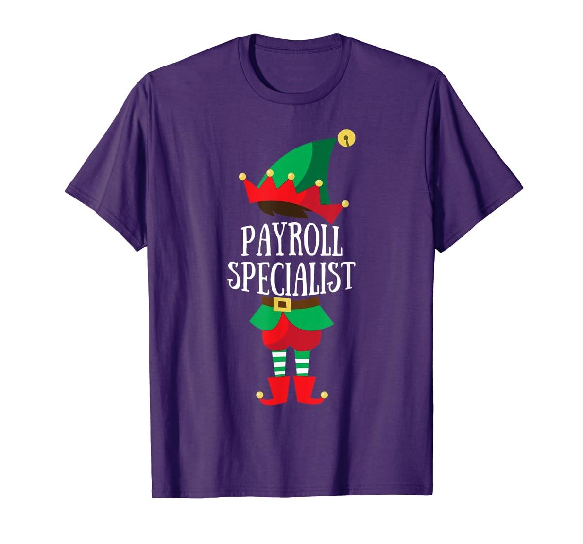 Elf Payroll Specialist Christmas Group Matching T-Shirt-Men's T-Shirt-Purple