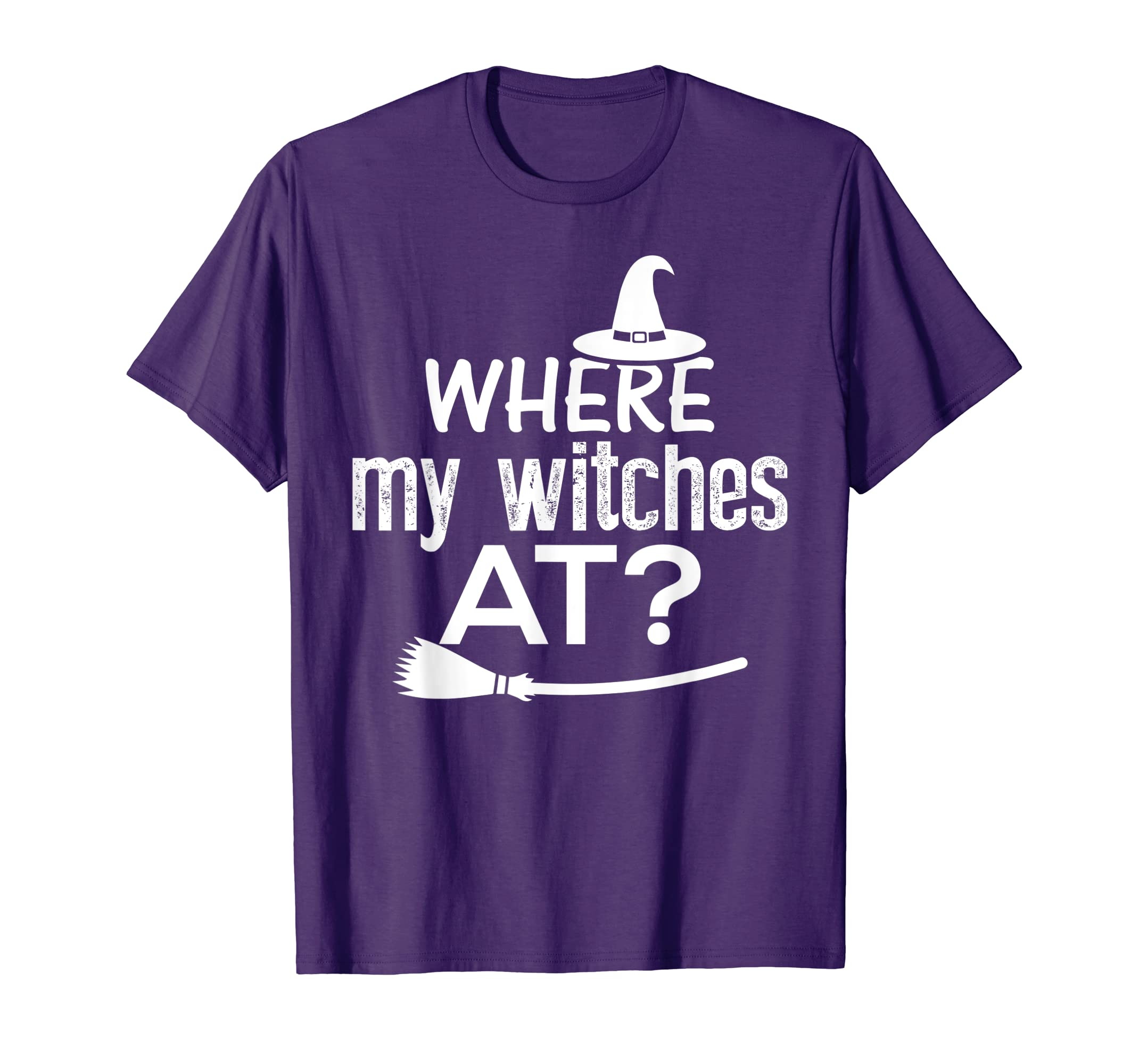 55695dec749d7 Amazon.com: Where my Witches at Funny Halloween Shirt: Clothing