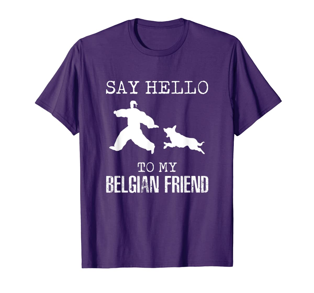 Say Hello To My Belgian Friend K9 T Shirt Dog Police Officer-Men's T-Shirt-Purple