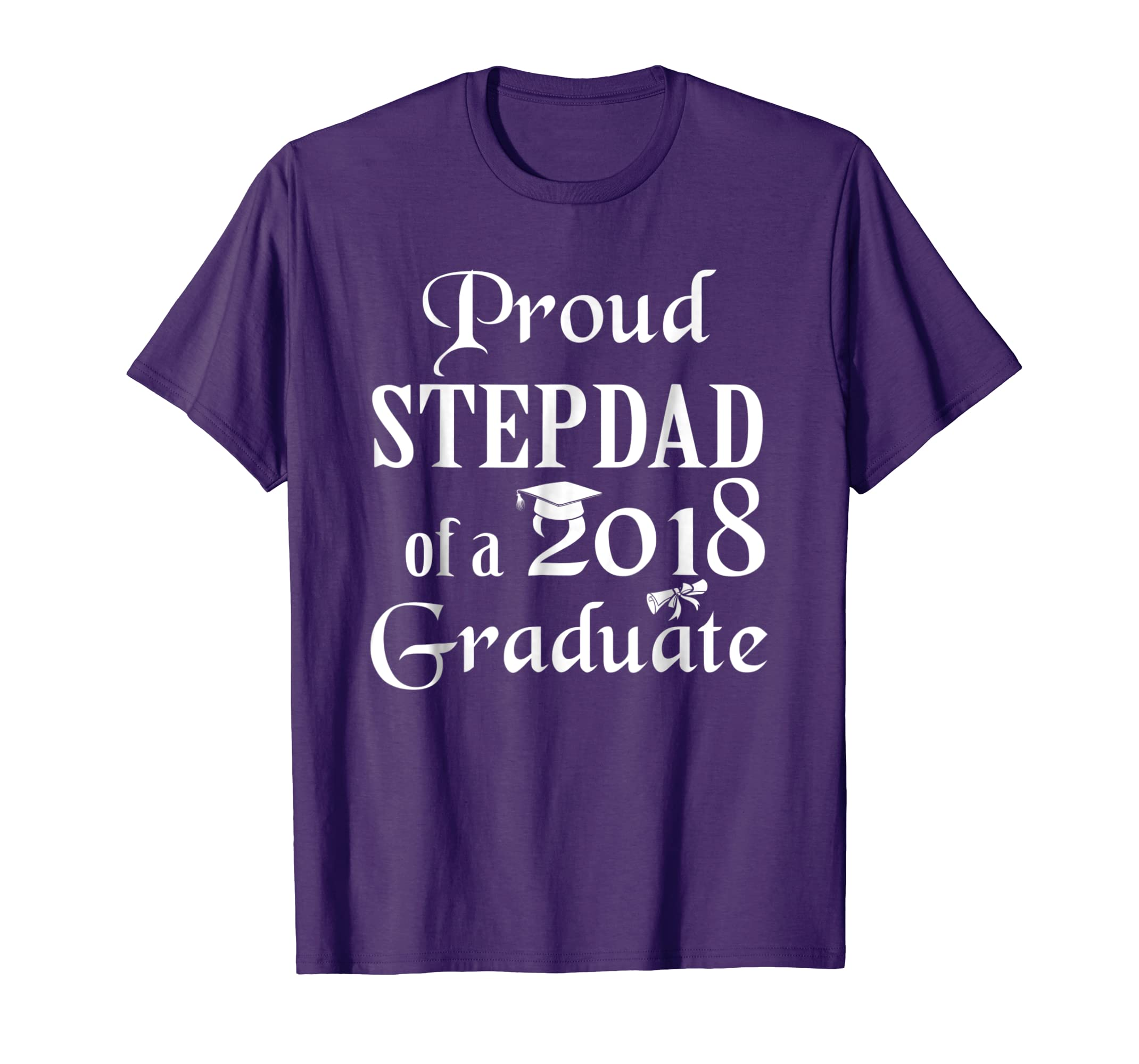 proud stepdad of a 2018 graduate shirt cool graduation gifts anz