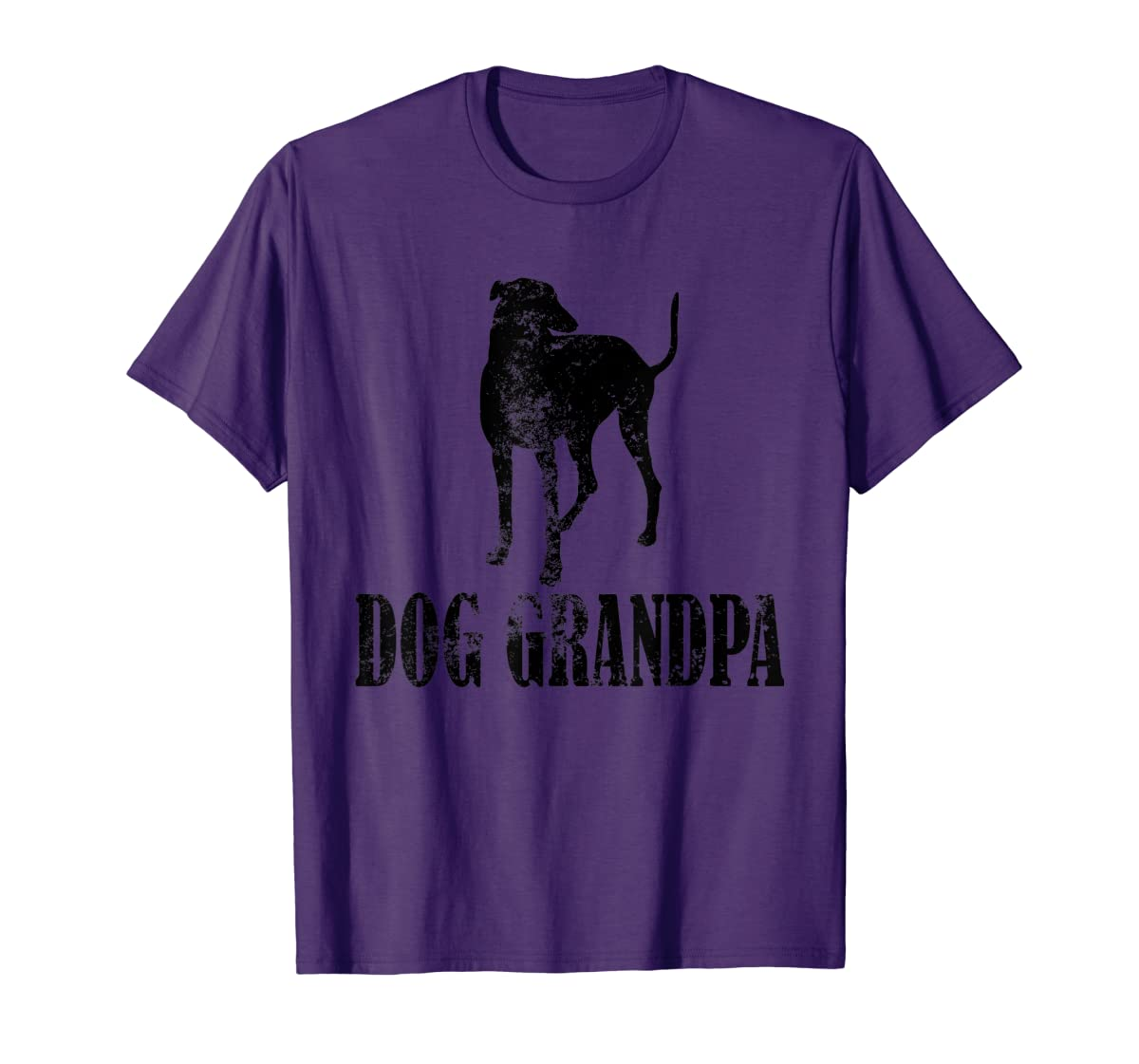 Father's Day T Shirt Greyhound Dog Grandpa T-Shirt Gifts-Men's T-Shirt-Purple