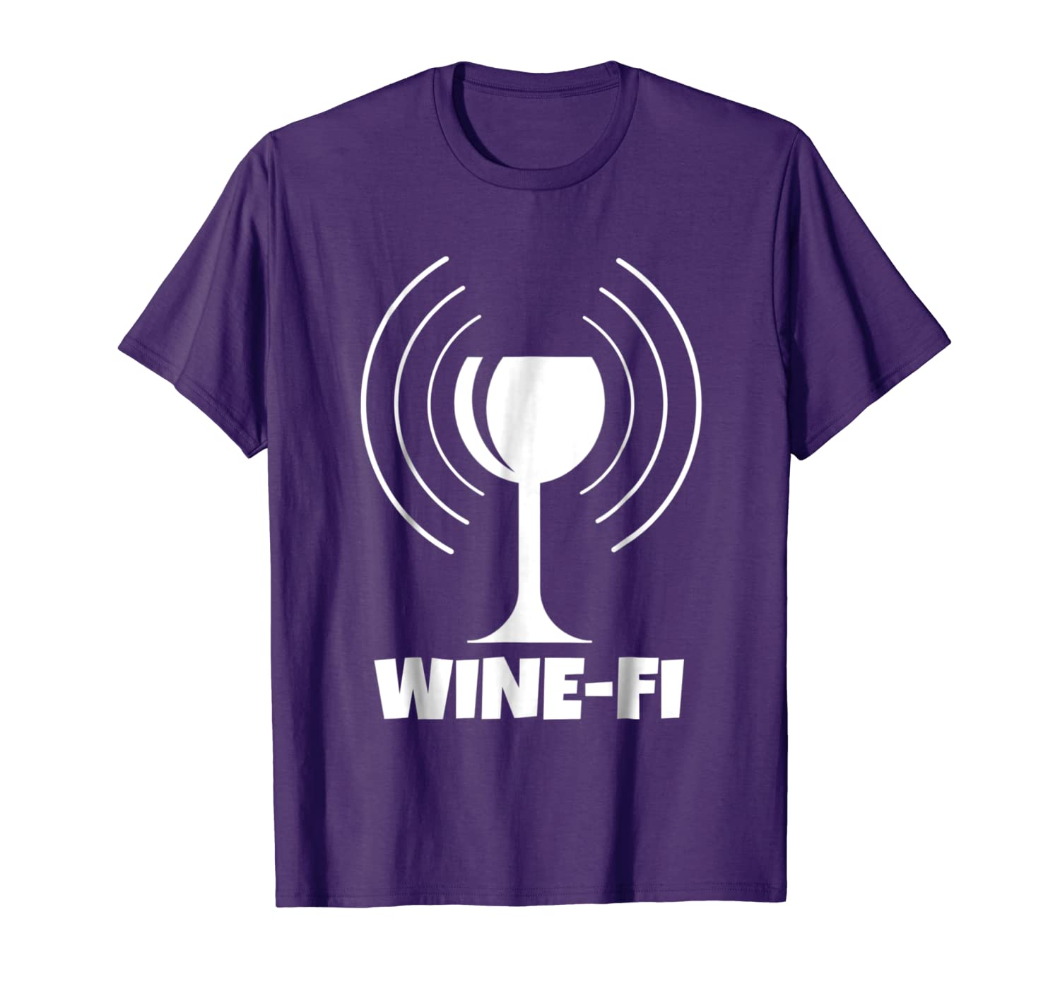 Wine-Fi Zone Funny Wine Glass and WiFi Waves T-Shirt (More Colors Available)