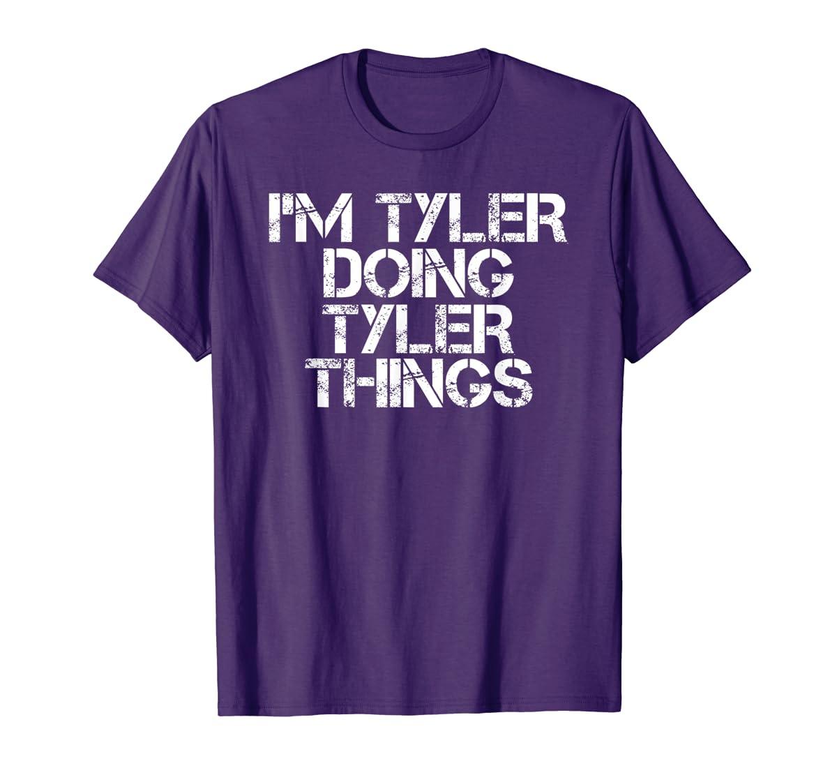 I'M TYLER DOING TYLER THINGS Shirt Funny Christmas Gift Idea-Men's T-Shirt-Purple