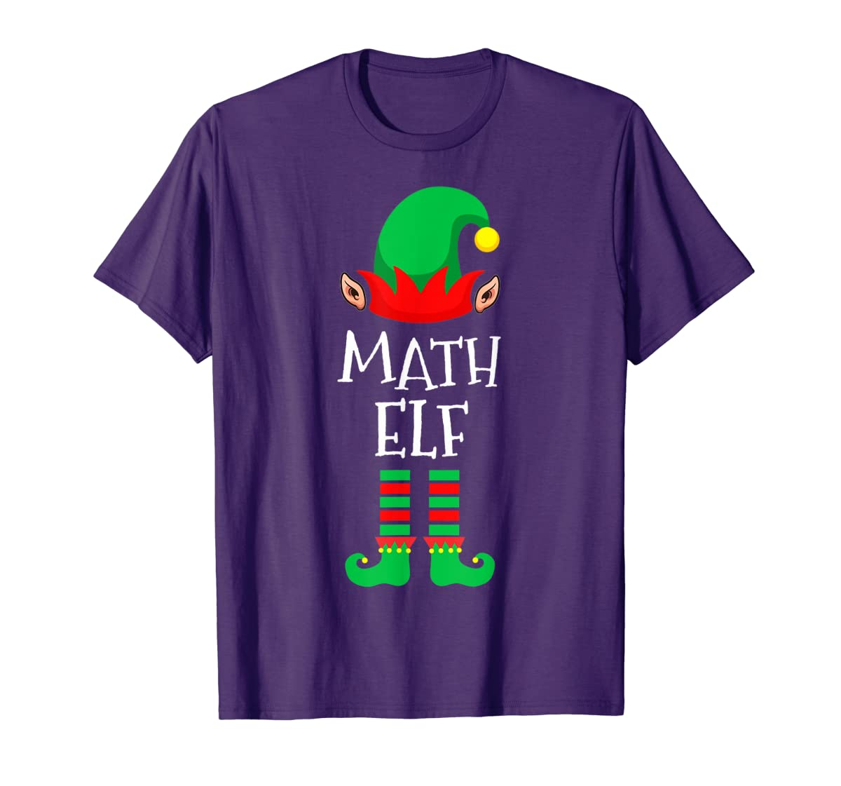Math Elf - Funny School Teacher Christmas T-Shirt-Men's T-Shirt-Purple