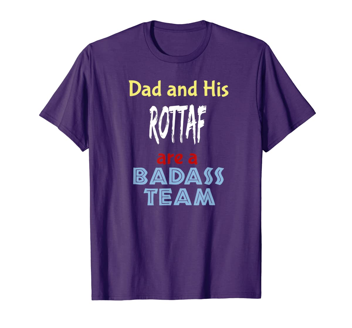 Mens Rottaf Dog Shirt Love Rottweiler + Afghan Hound = T-Shirt-Men's T-Shirt-Purple