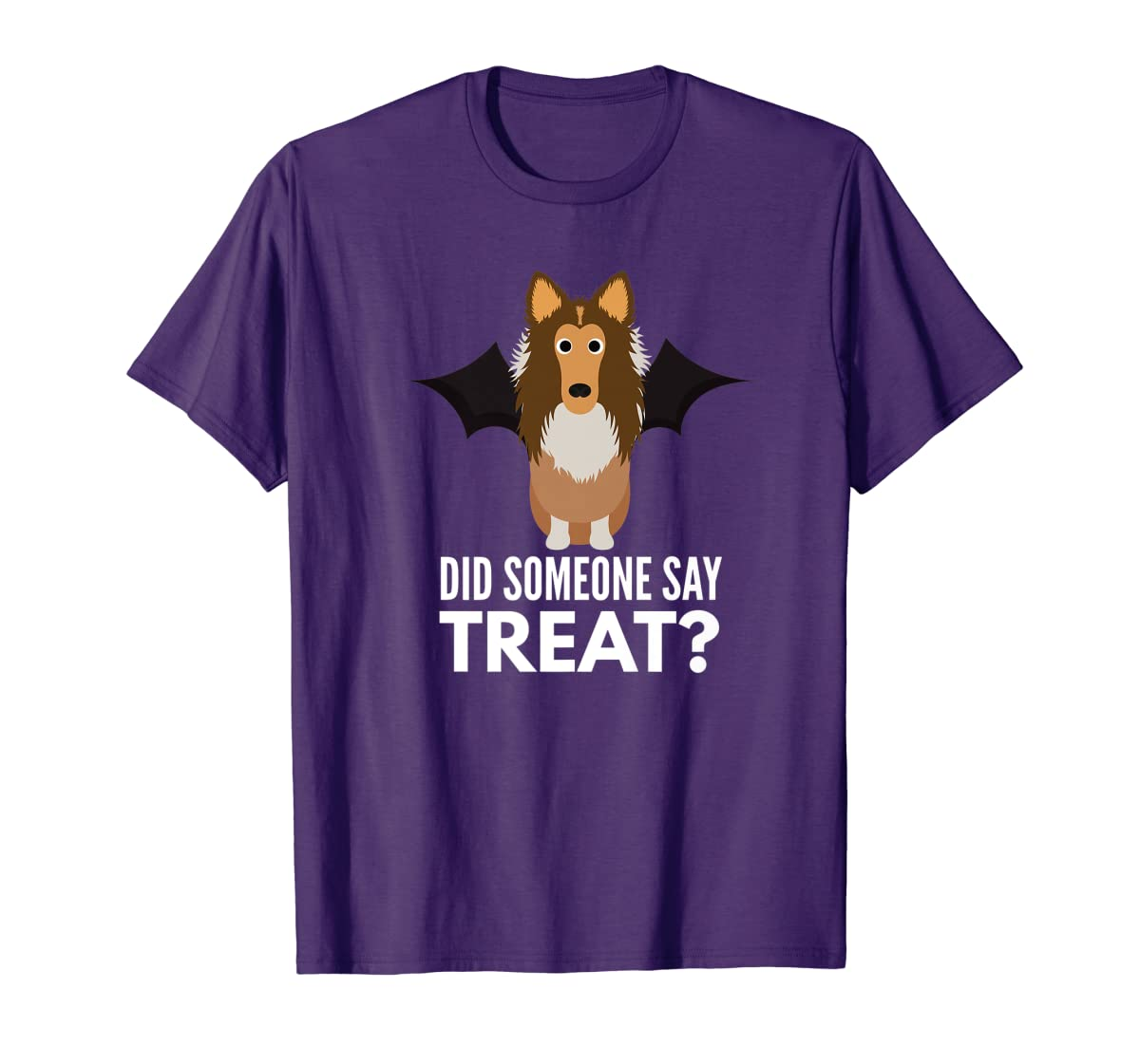 Rough Collie Halloween - Did Someone Say Treat? Premium T-Shirt-Men's T-Shirt-Purple