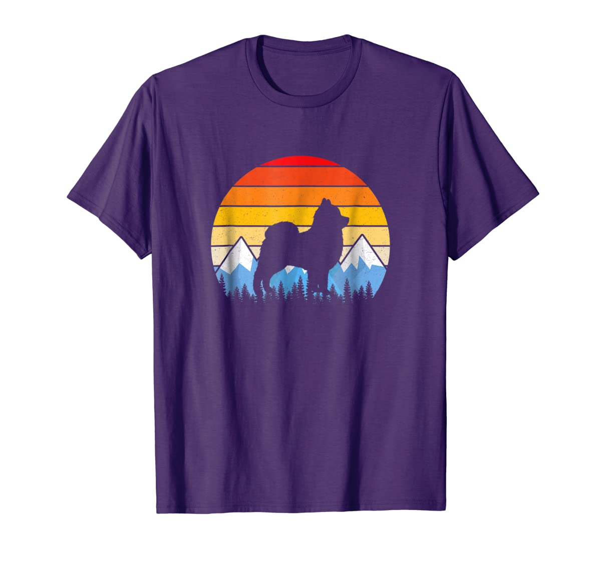 Vintage Retro Pomeranian Lovers Gifts Pomeranian T Shirts-Men's T-Shirt-Purple