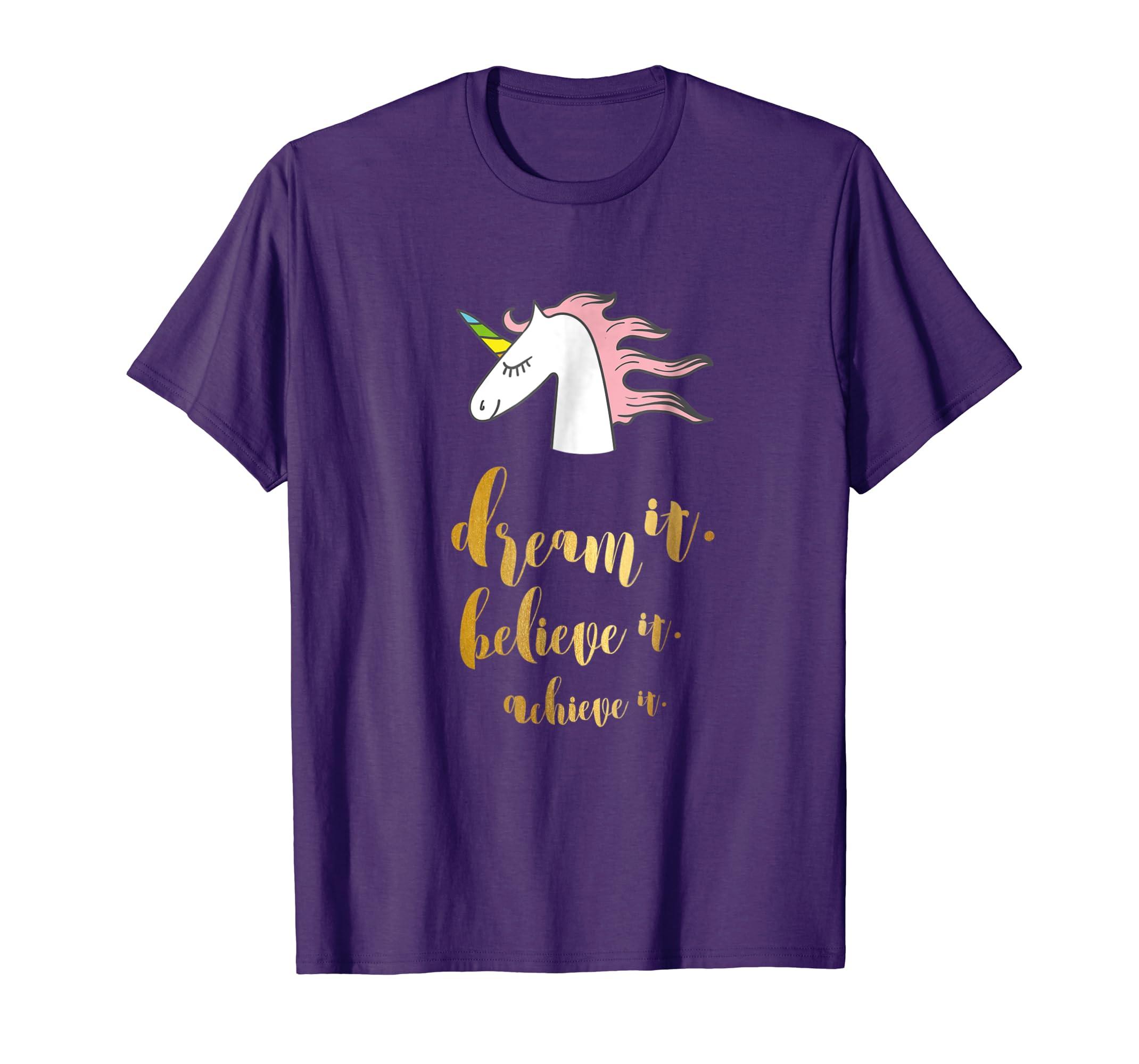 bcac4207f814 Amazon.com  Dream it Believe it Achieve it Shirt Dream Believe Achieve   Clothing