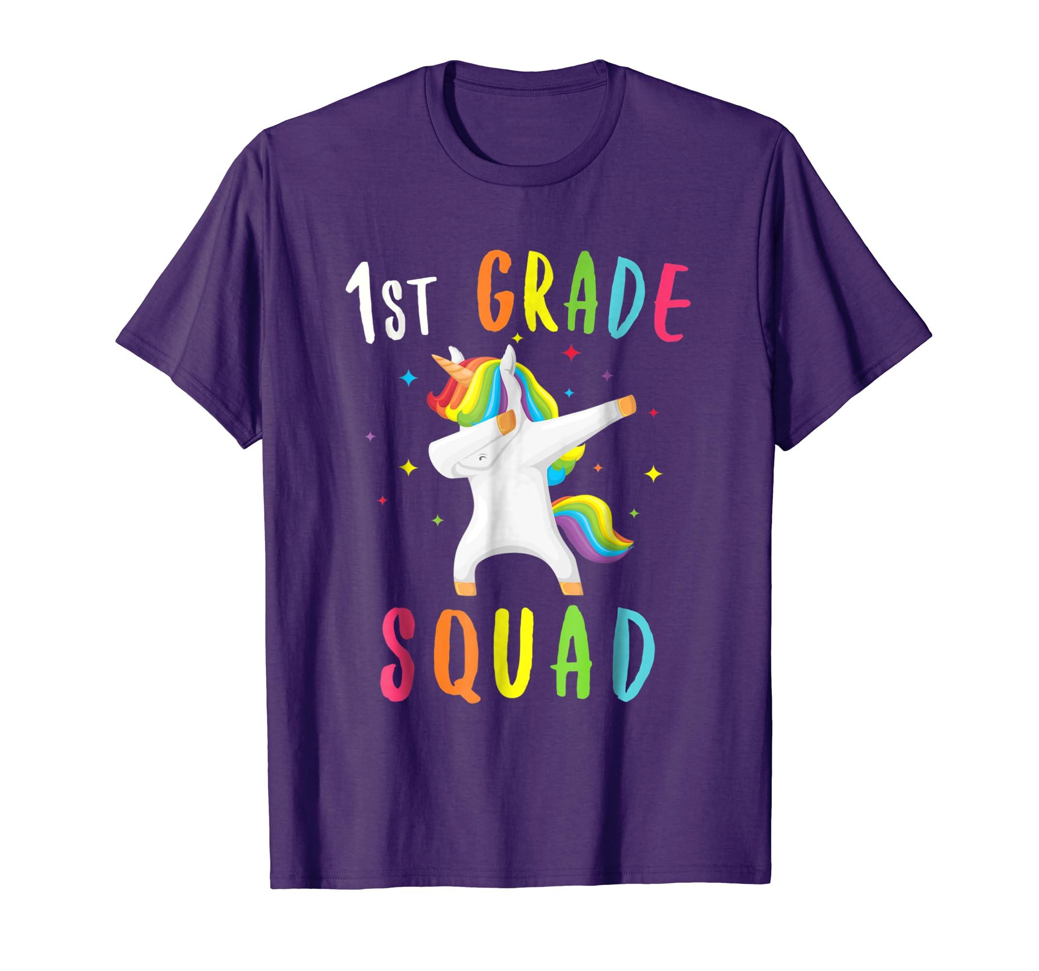 1st Grade Squad Unicorn Shirt First Grade Teacher T Shirt