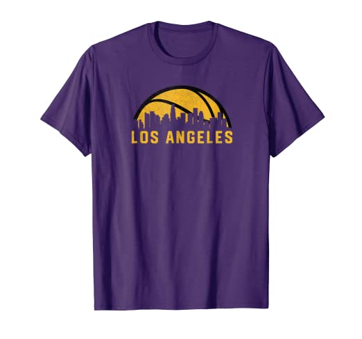 Amazon Com Vintage Los Angeles California Cityscape Basketball T