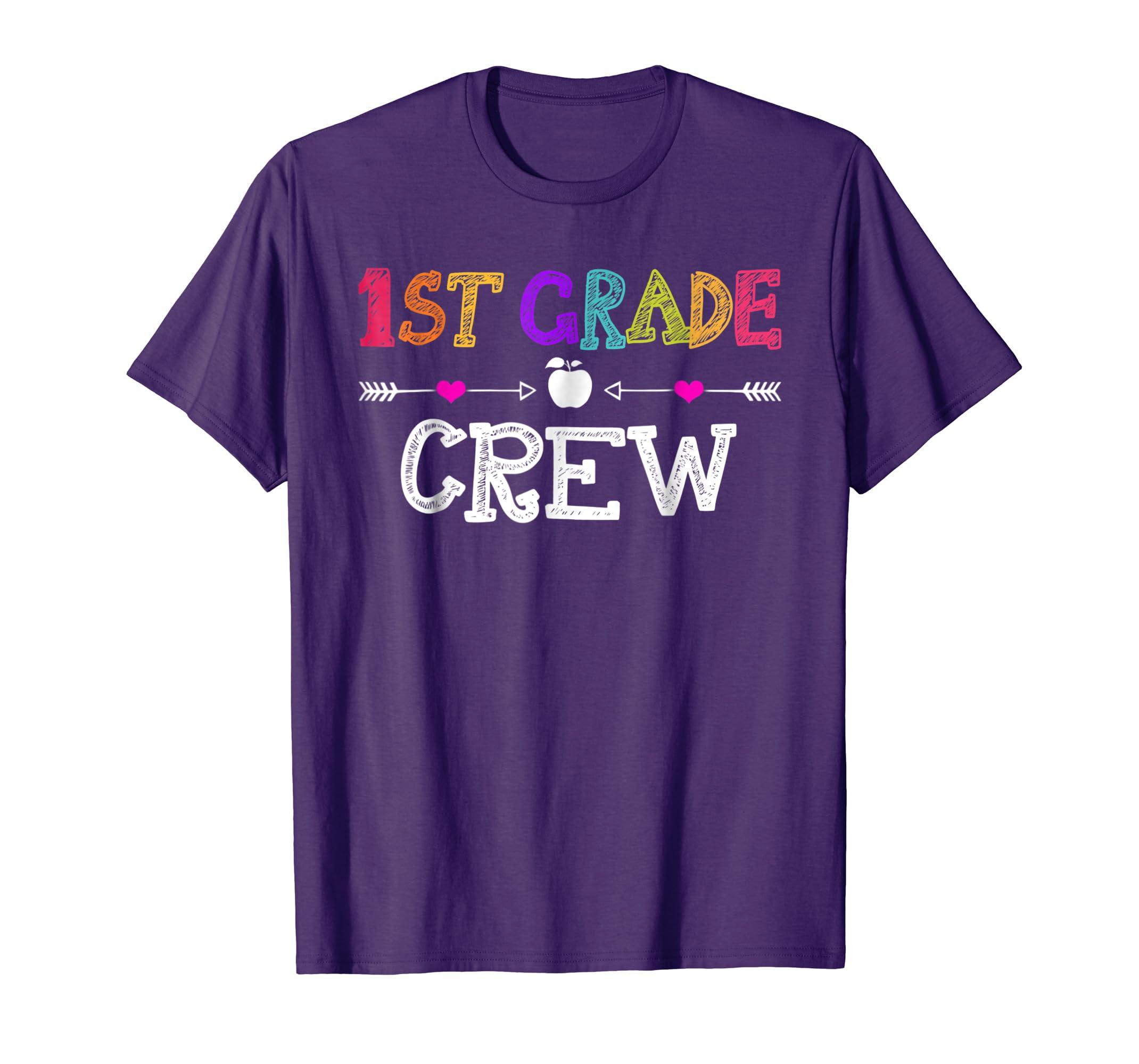 1st Grade Crew Teacher T Shirt First day of School Gift