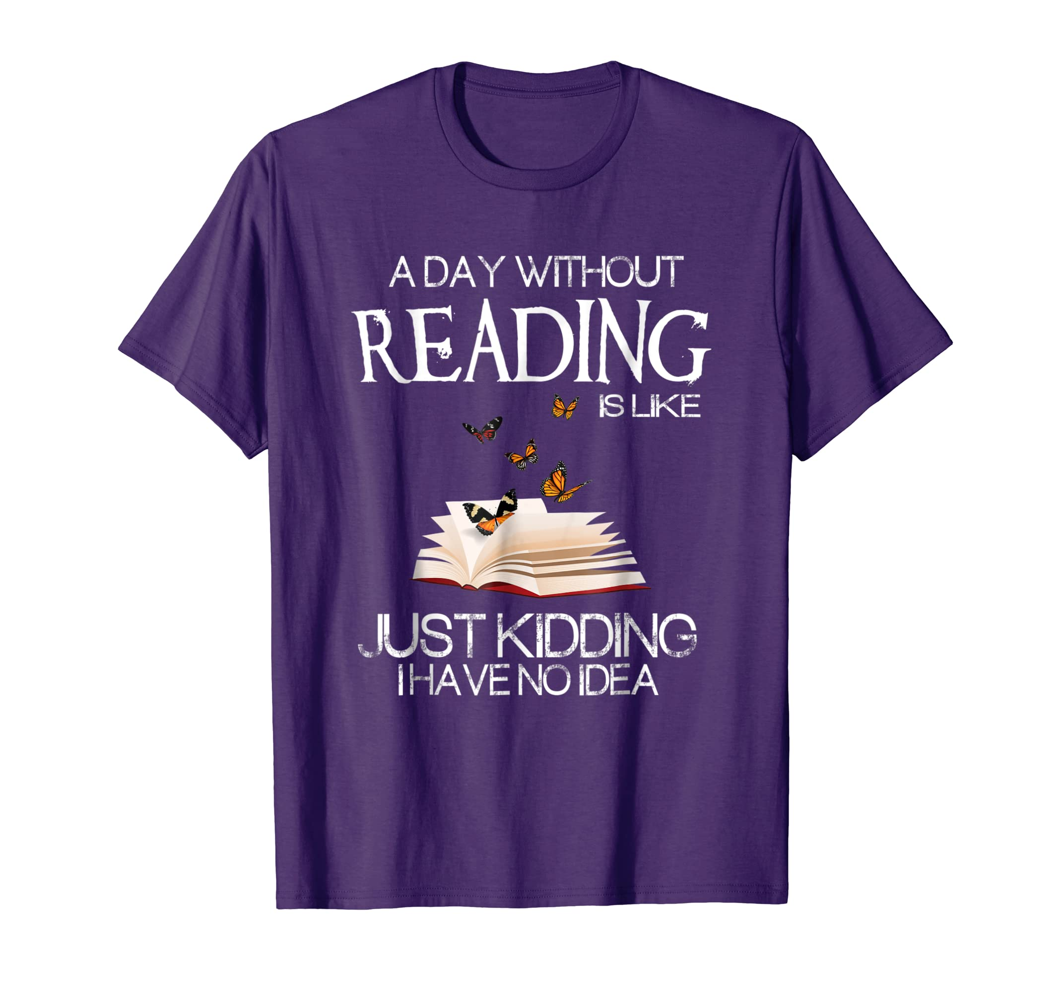 A day without reading is like.. funny bookworm Tshirt-azvn