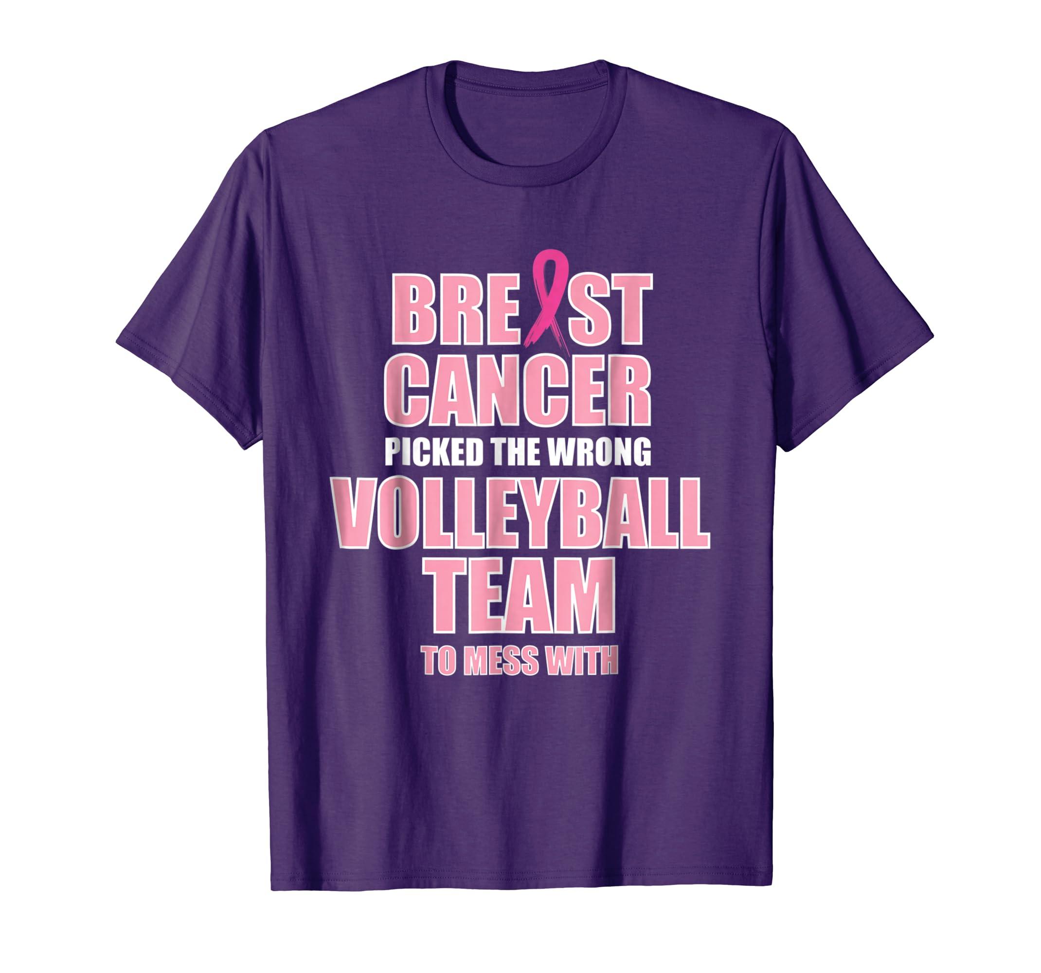 Breast Cancer Awareness Volleyball Team Matching T shirt-ln