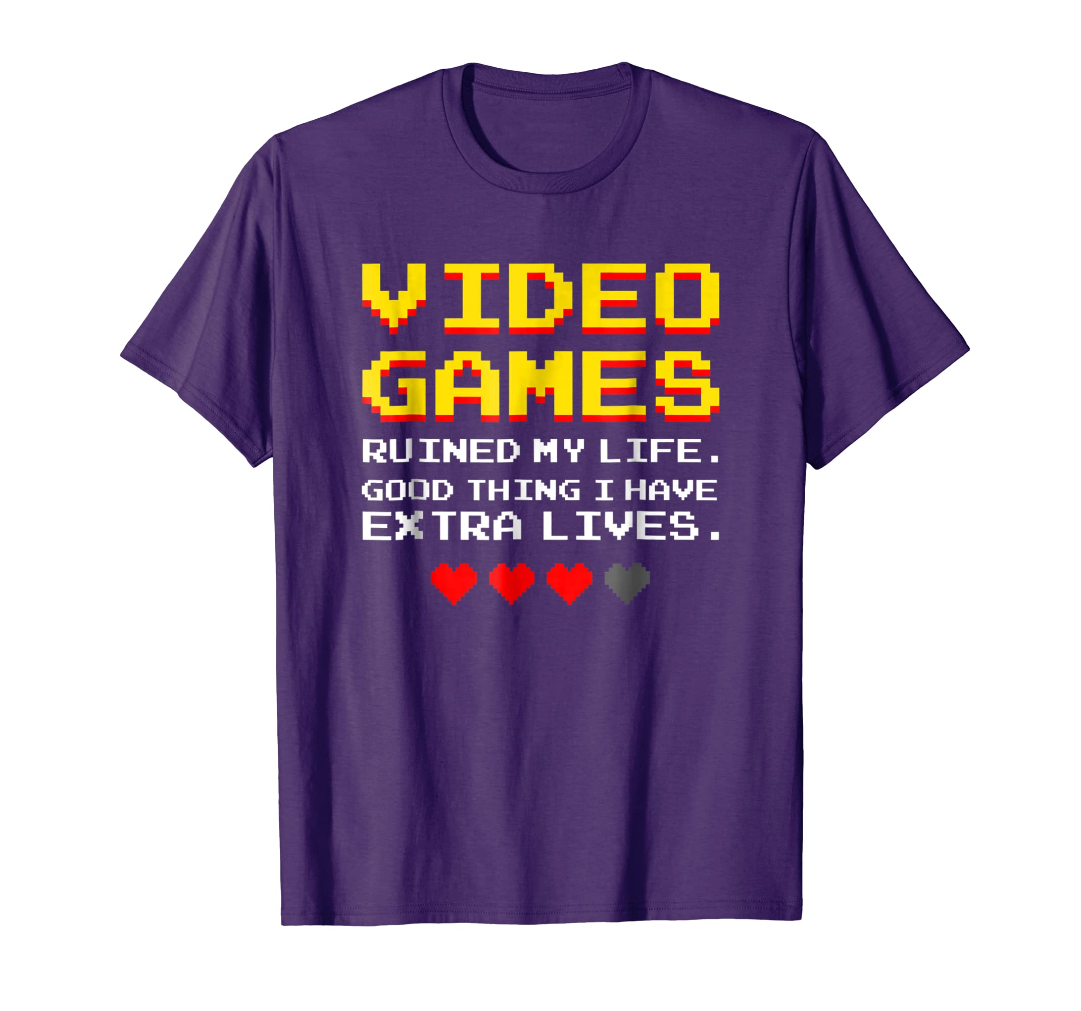 Amazon com: Video Games Ruined My Life Funny Gamer Gaming Gift T