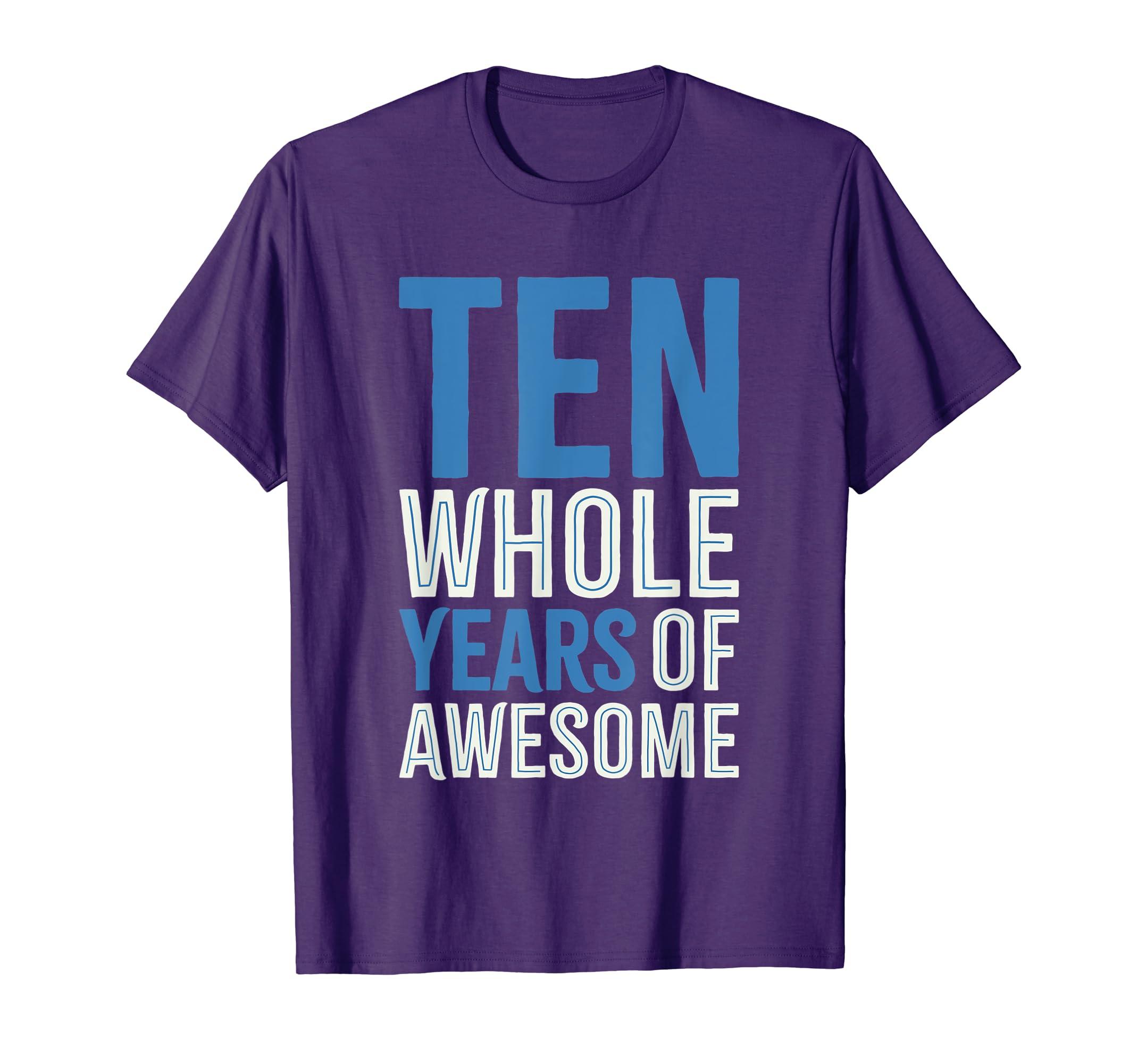 Amazon 10th Birthday Shirt Gift Boy Age 10 Ten Year Old Boys Son Clothing