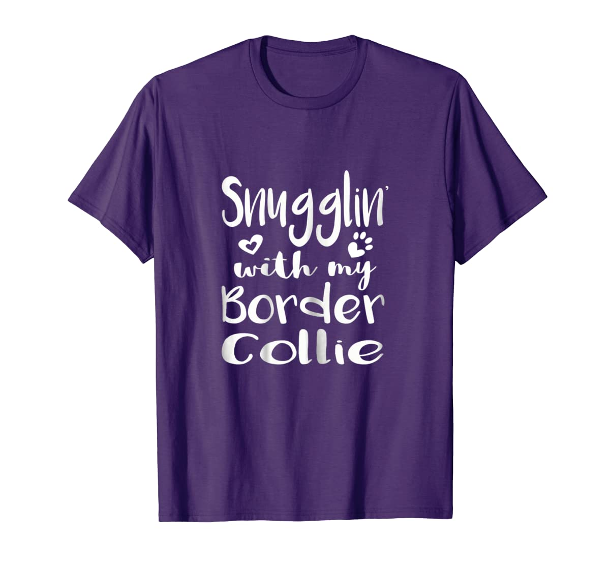 Snuggling with my Border Collie Shirt - Dog Mom pajamas-Men's T-Shirt-Purple