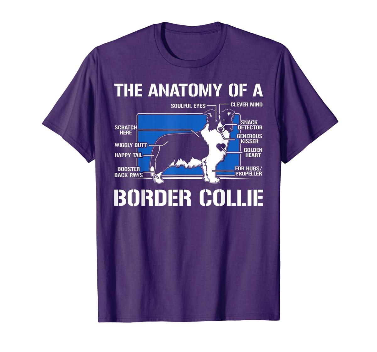 The Anatomy Of A Border Collie T shirt-Men's T-Shirt-Purple