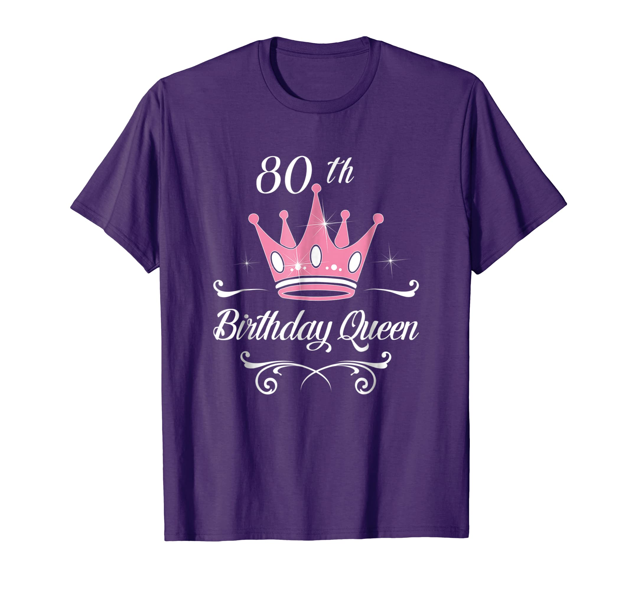 Amazon 80th Birthday Queen Ladies Gifts 80 Years Old Lady Fun Shirt Clothing
