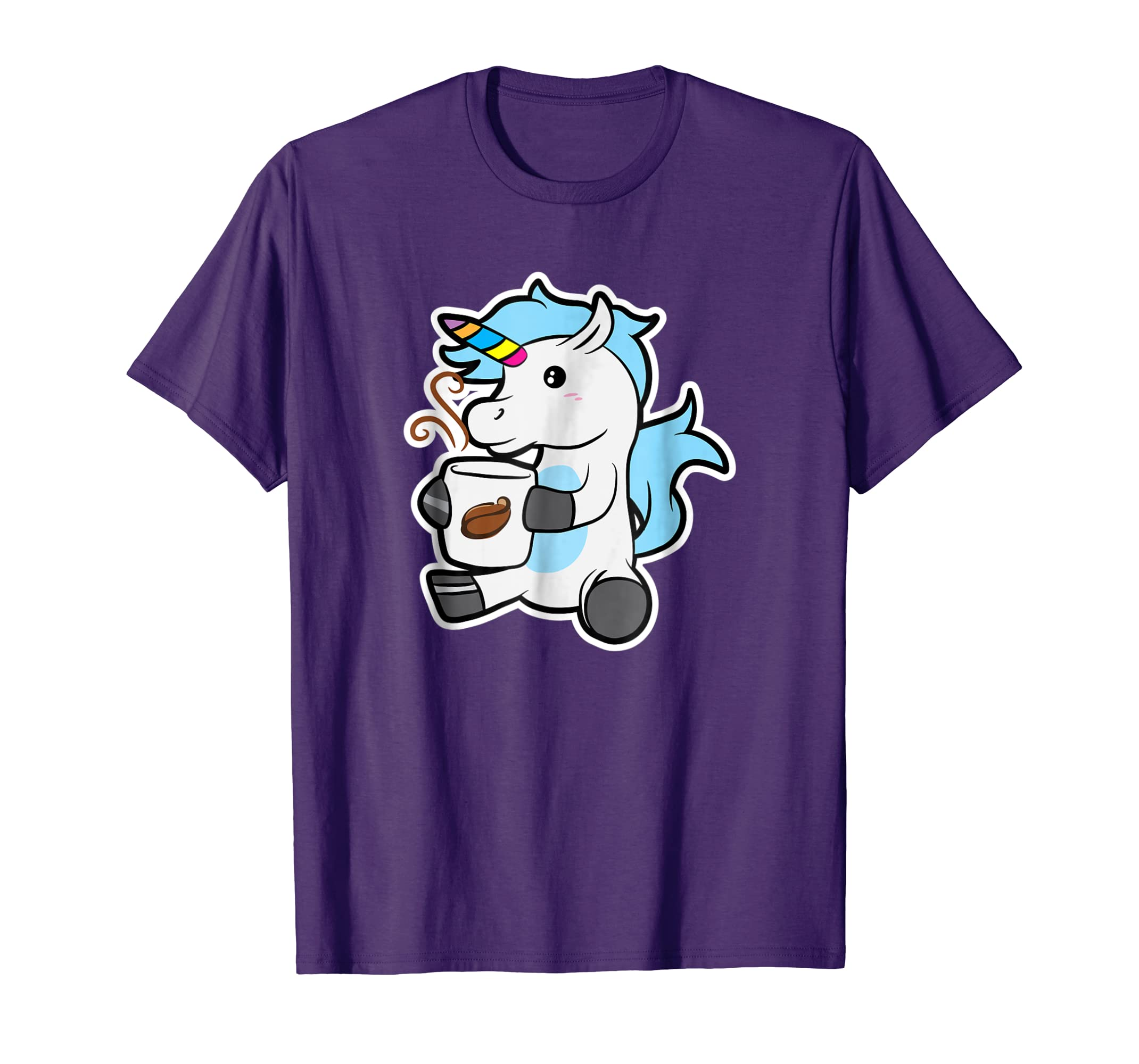 a17c0dbe Amazon.com: Funny Unicorn Coffee T-Shirt - Funny Coffee Unicorn Shirt:  Clothing
