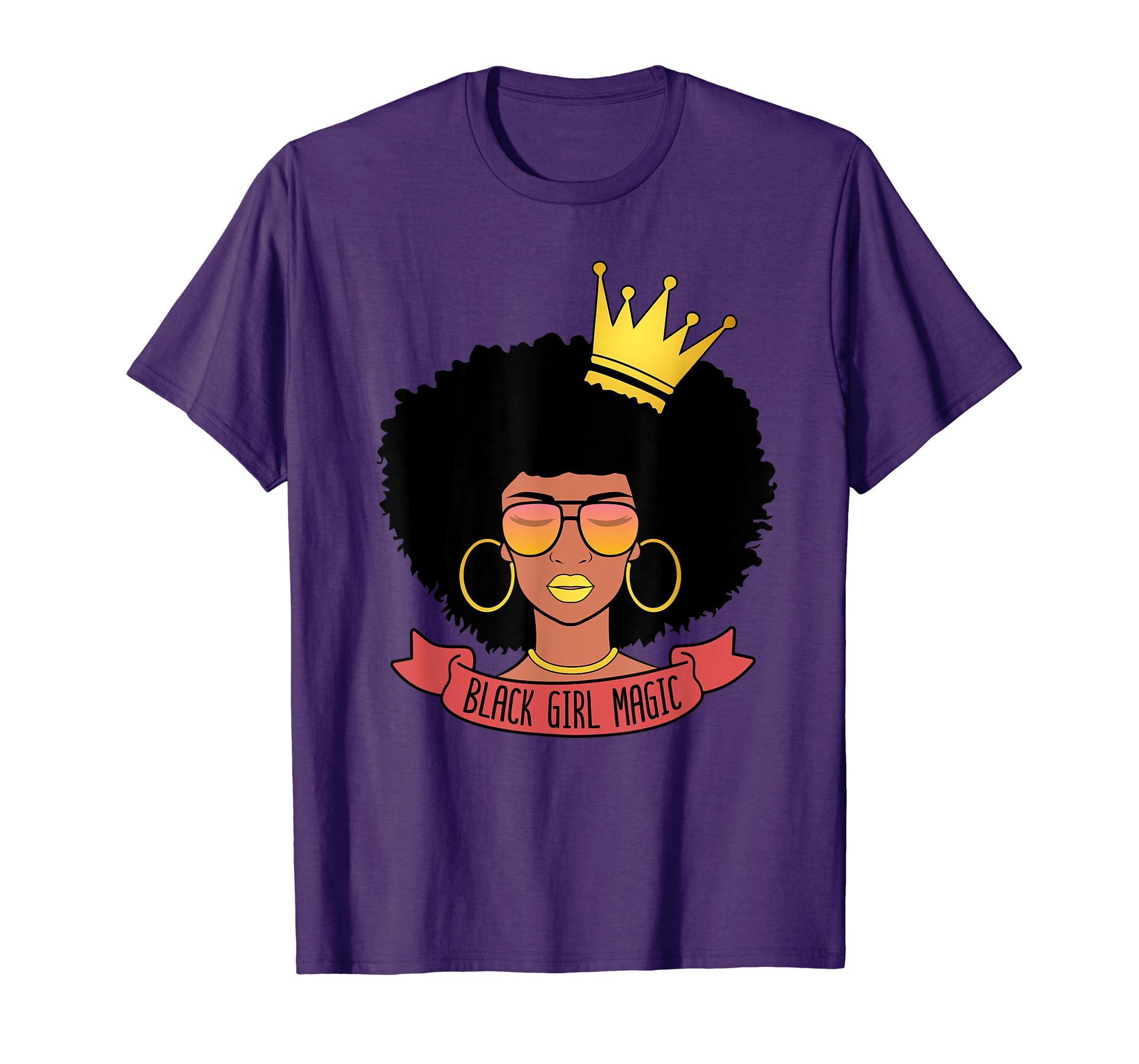 Black Girl Magic Afro Women Shirt African Pride Gift-SFL