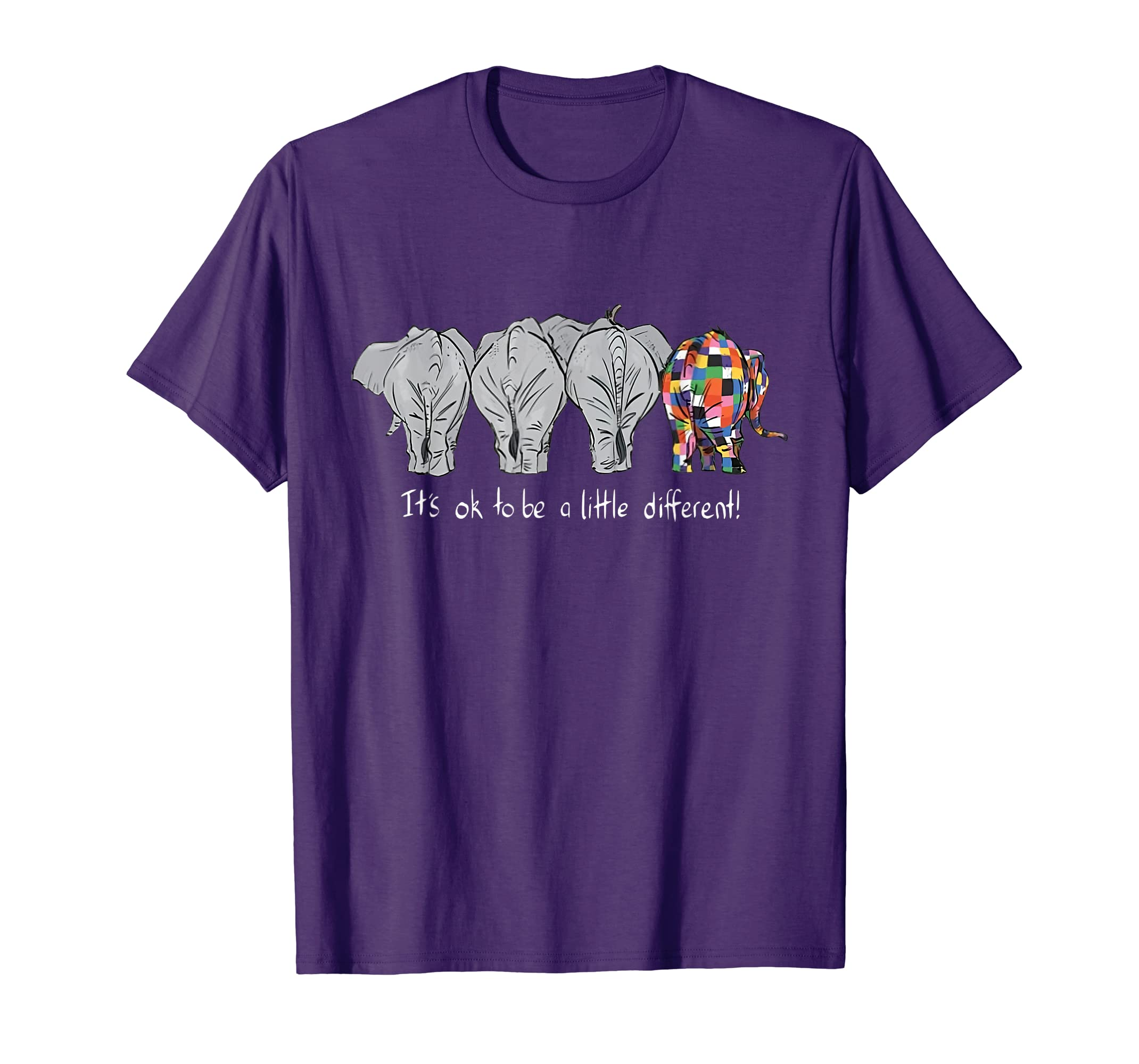 b3bc313ea Amazon.com  Elephants It s Ok To Be A Little Different Elephant Shirt   Clothing