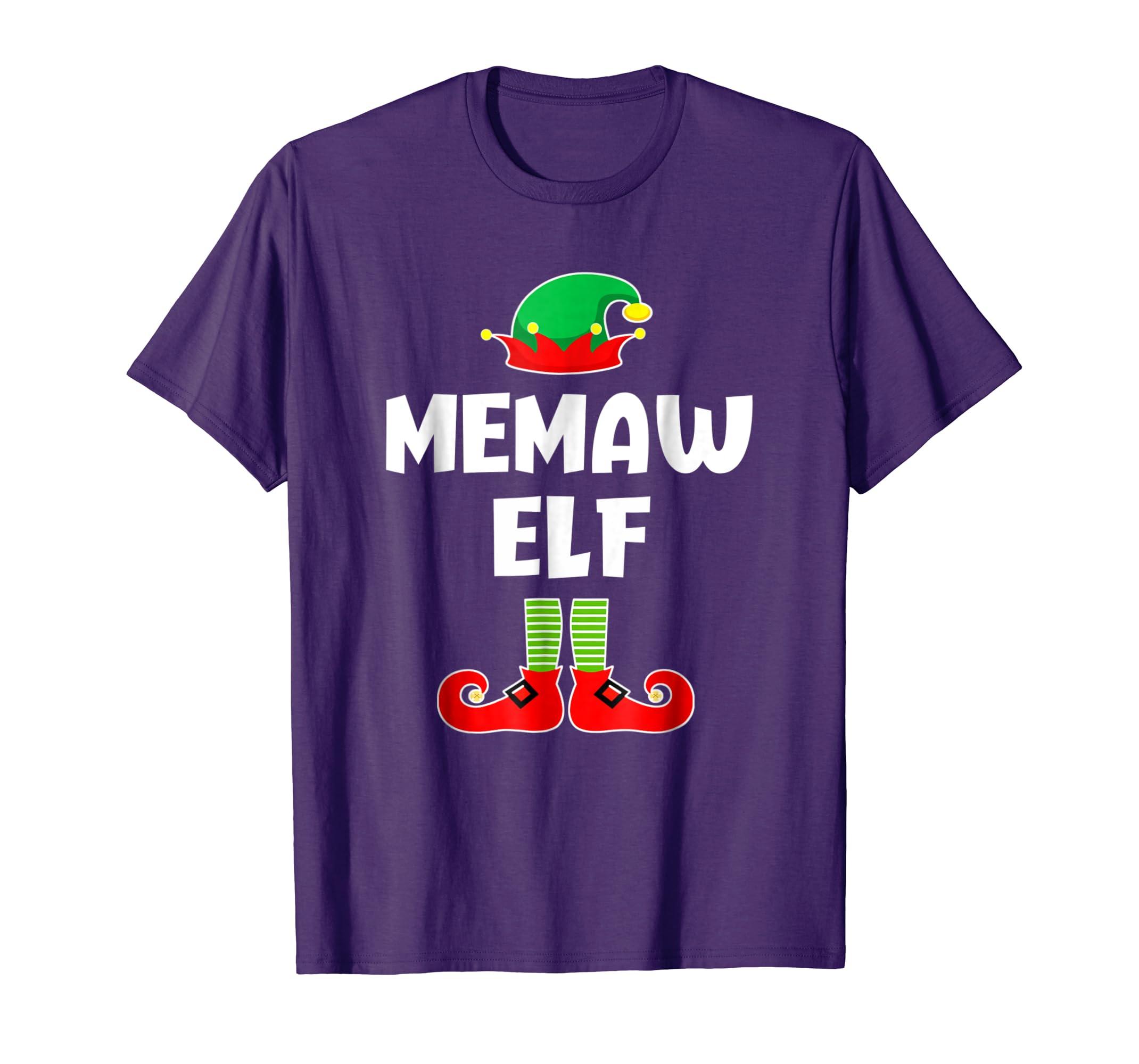 Memaw Elf Matching Family Christmas Pajama Shirt-azvn