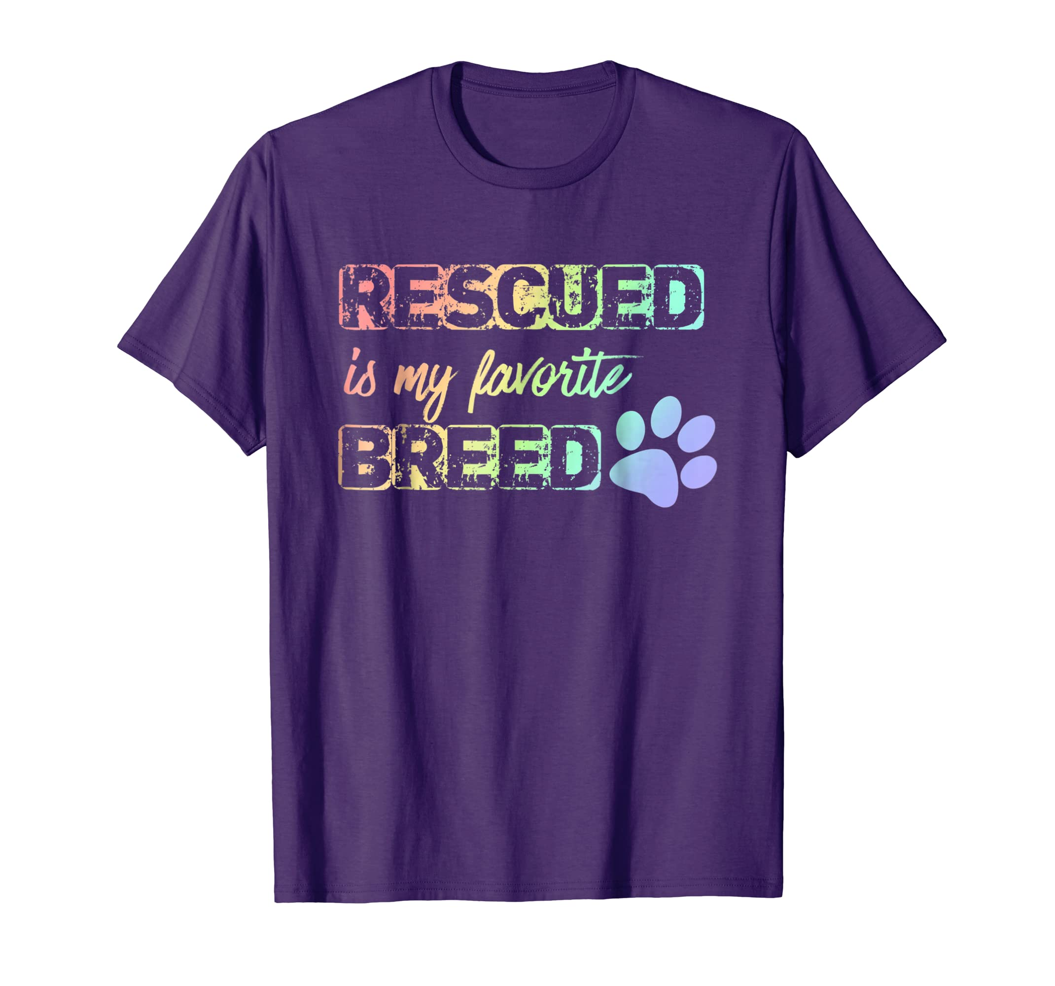 Dog Cat | Rescued Is My Favorite Breed Shirt-AZP