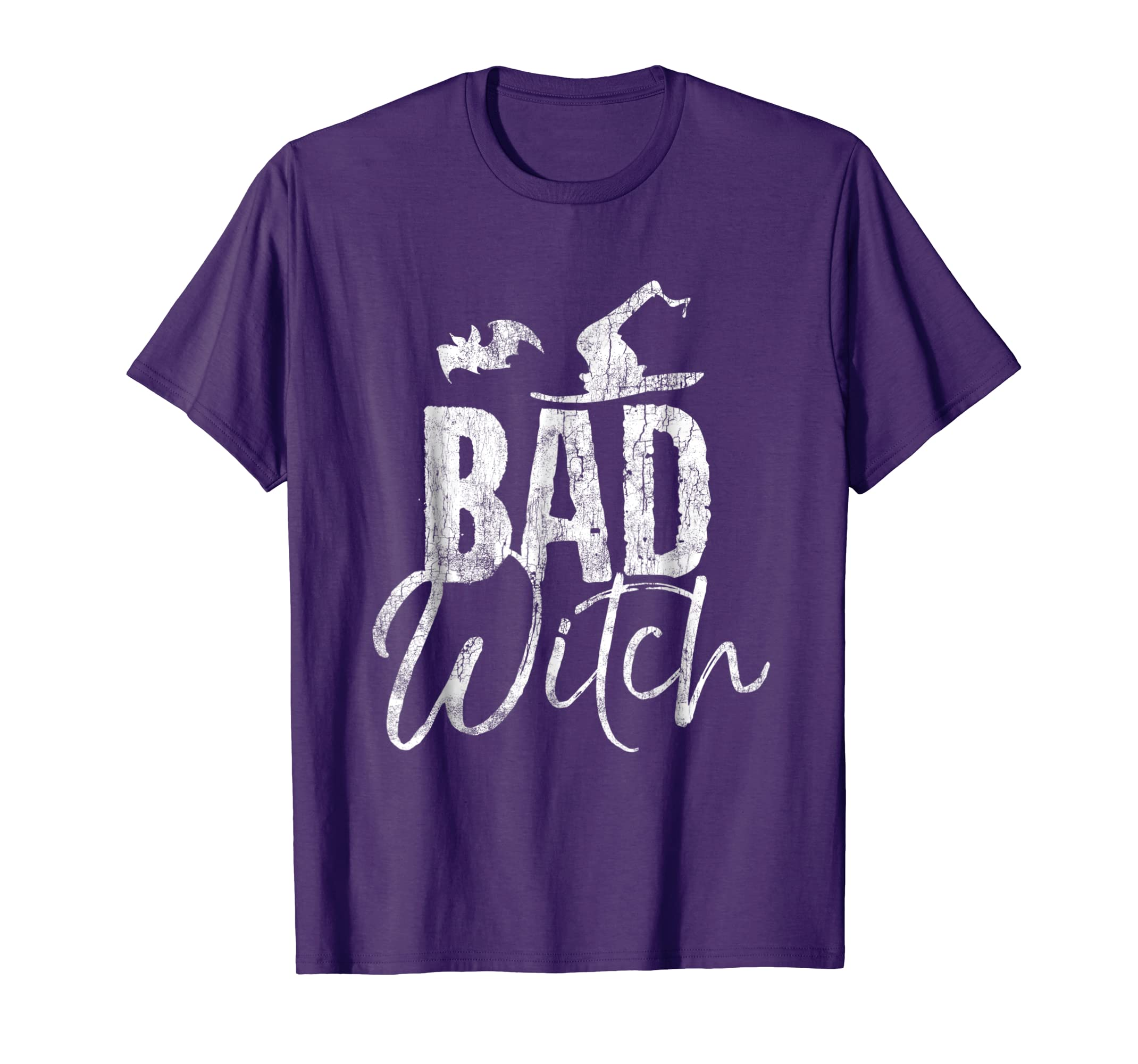 Bad Witch T-Shirt Funny Halloween Party Couples Shirt-Rose