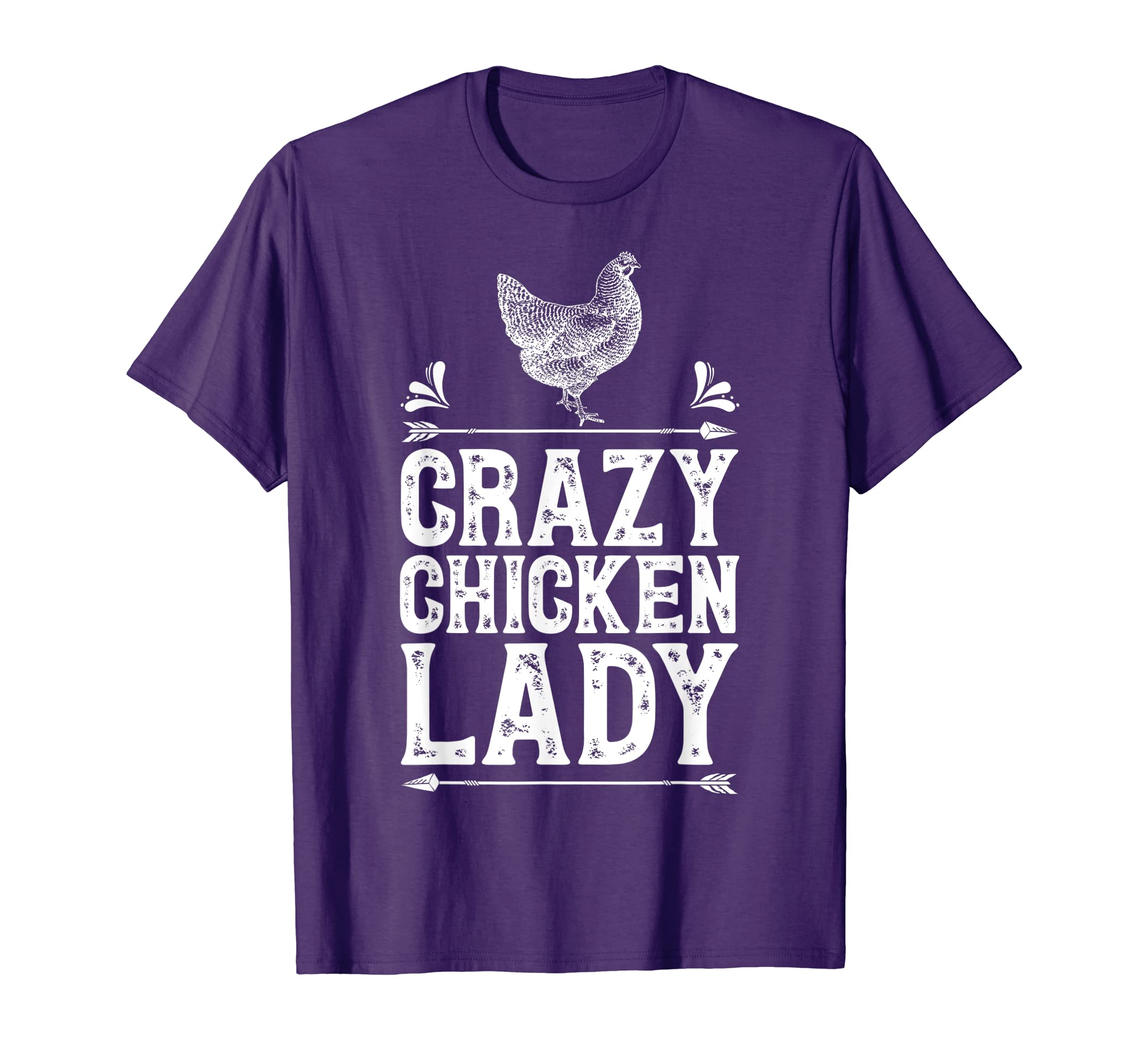 71be49c91 Amazon.com: Crazy Chicken Lady T Shirt Funny Farm Poultry Farmer Gifts:  Clothing